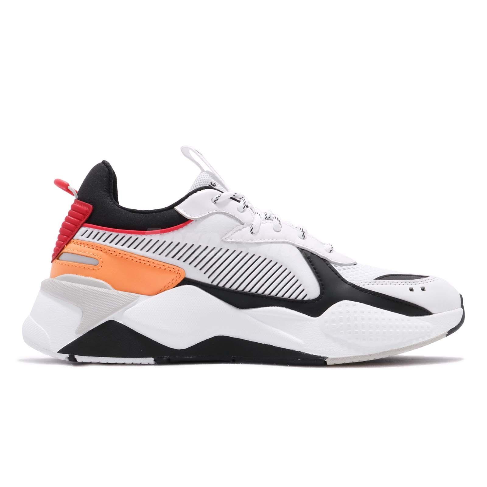 Details about Puma RS-X Tracks Running System White Black Red Orange Men  Shoe Sneaker 36933202