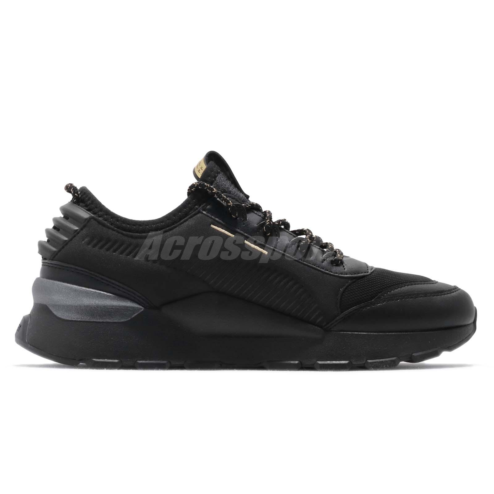 Puma RS-0 Trophy Running System Black Gold Men Lifestyle Shoes ... 99191fbb4