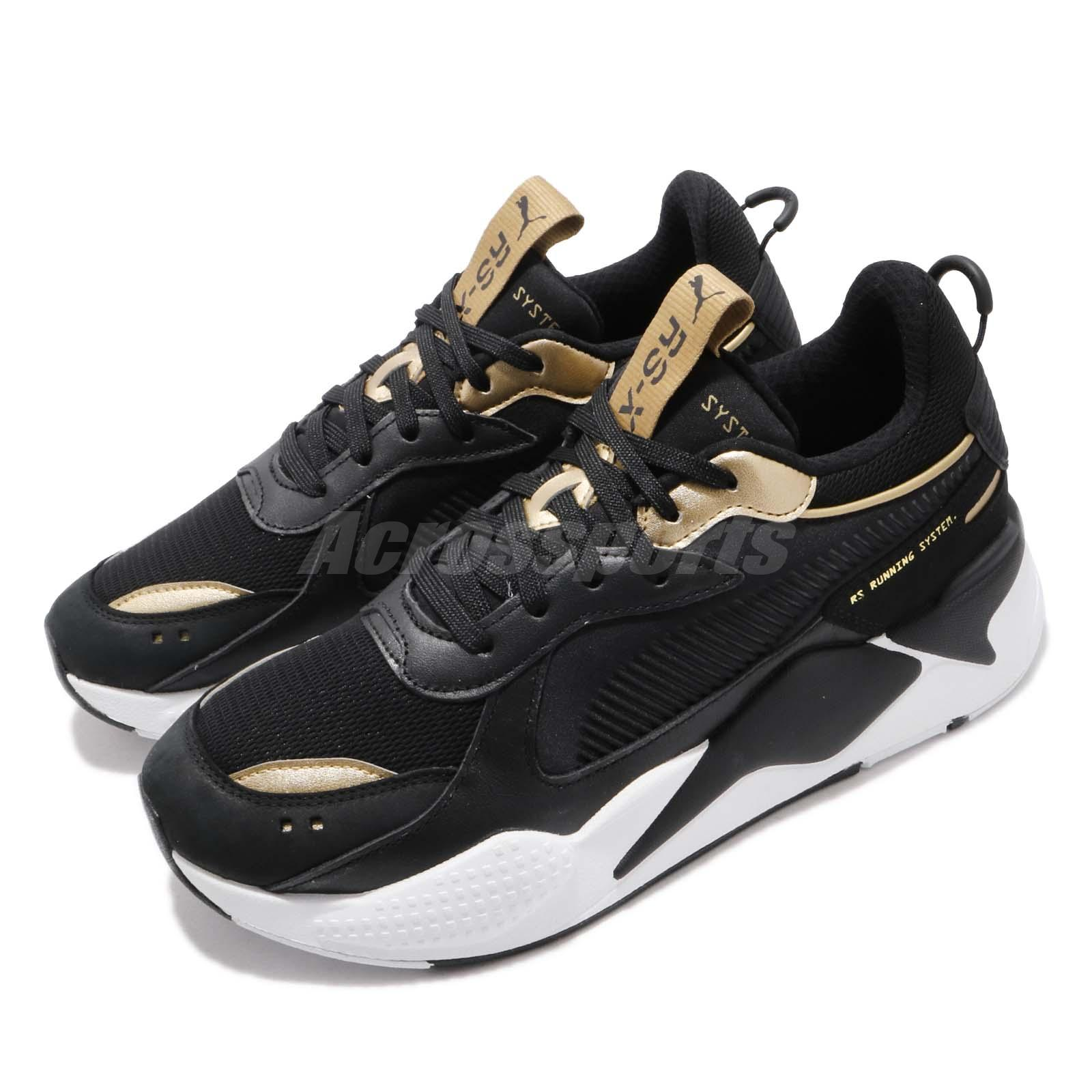 magasin en ligne 40fd5 ce71e Details about Puma RS-X Trophy Black Gold White Men Running System Shoes  Sneakers 369451-01
