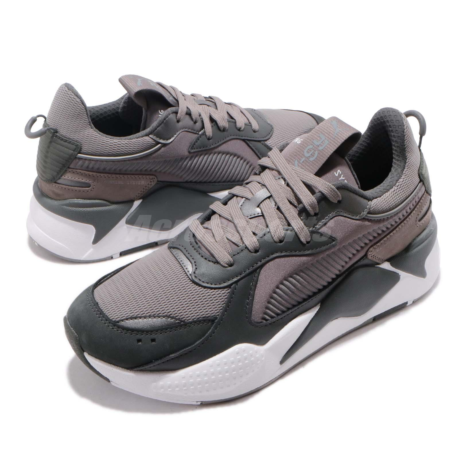 Details about Puma RS-X Trophy Running System Dark Shadow Grey White Men  Shoes 369451-03