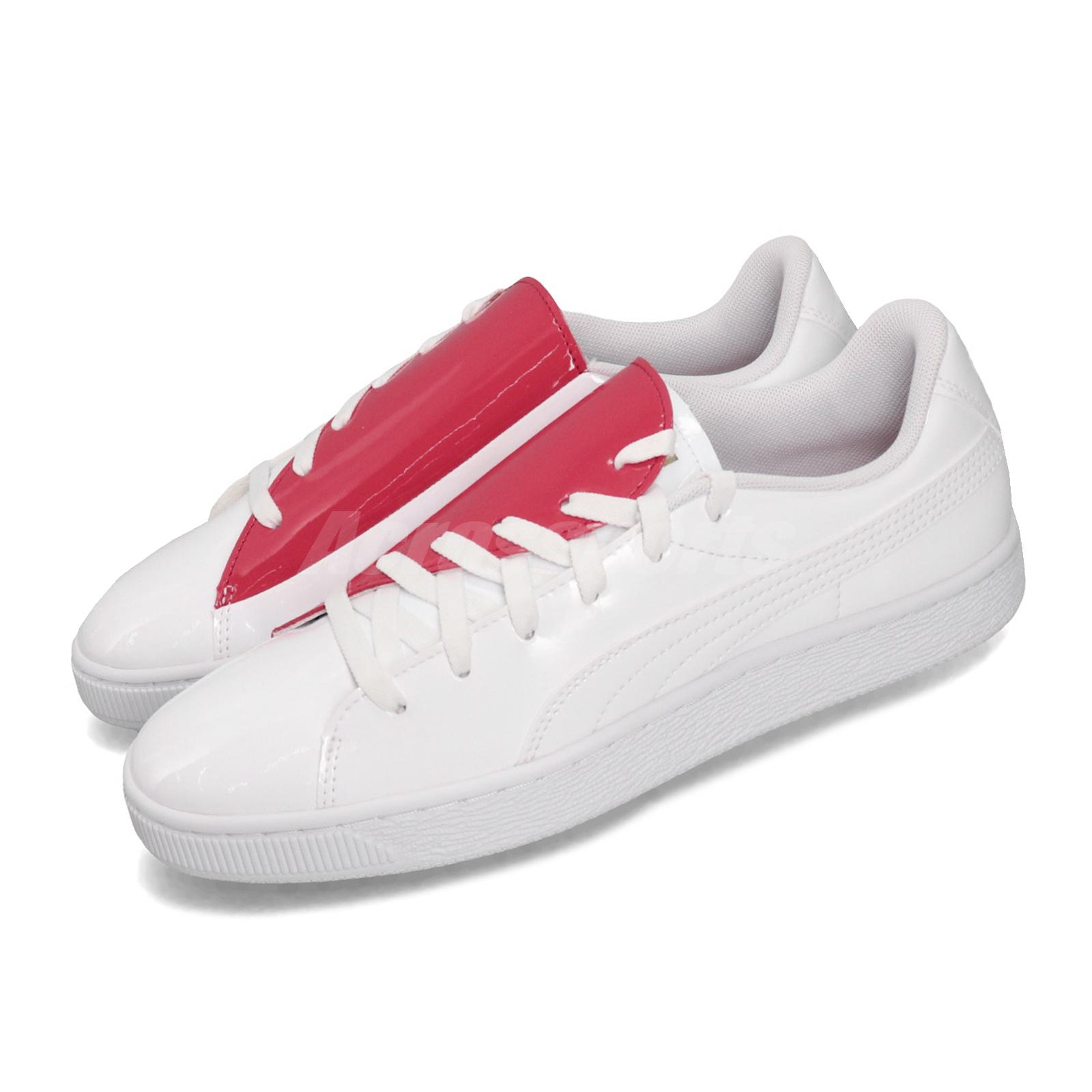 sale retailer cb05b d9df0 Details about Puma Basket Crush Wns White Red Heart Women Casual Shoes  Sneakers 369556-01