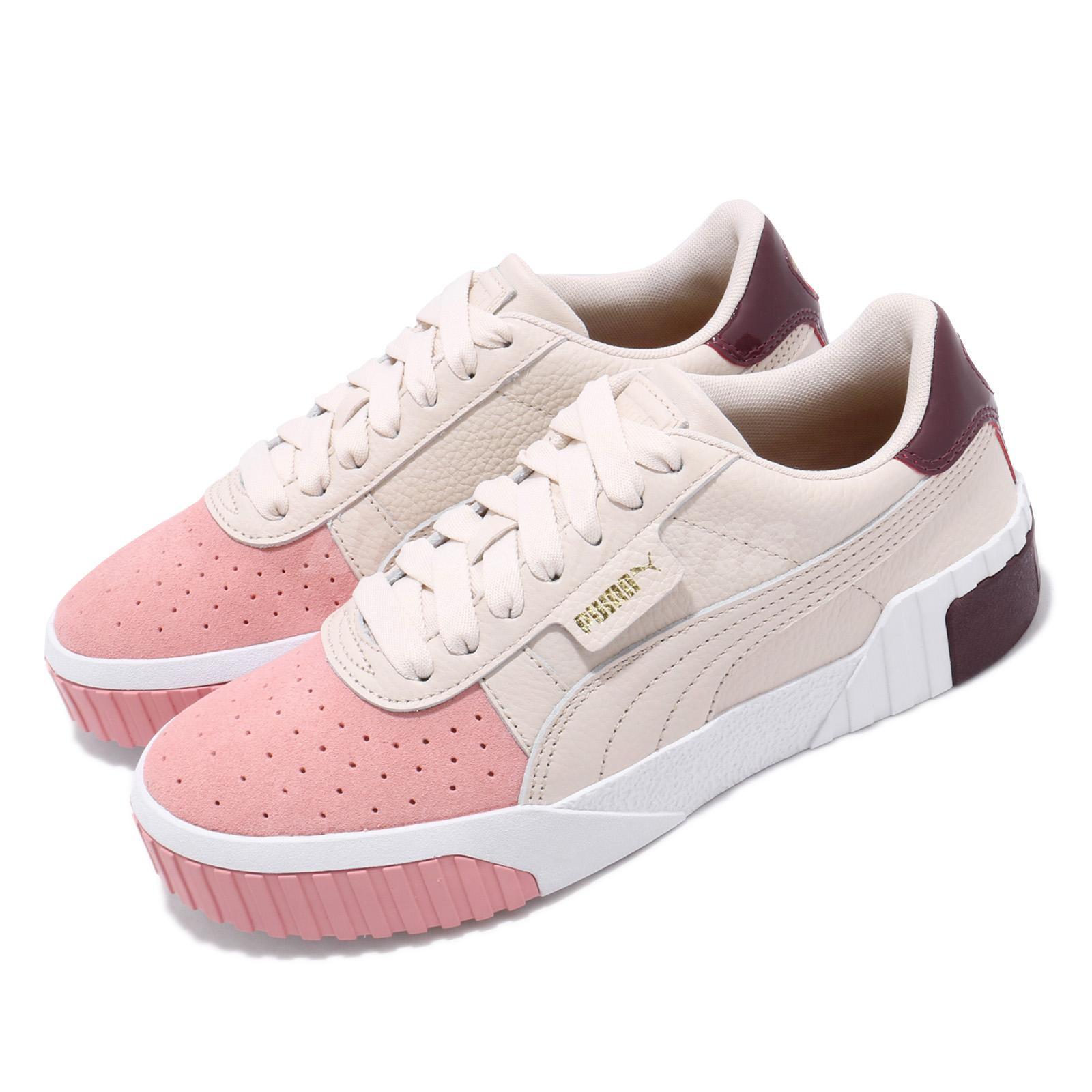 Details about Puma Cali Remix Wns Pastel Parchment Bridal Rose Women Casual Shoes 369968 01