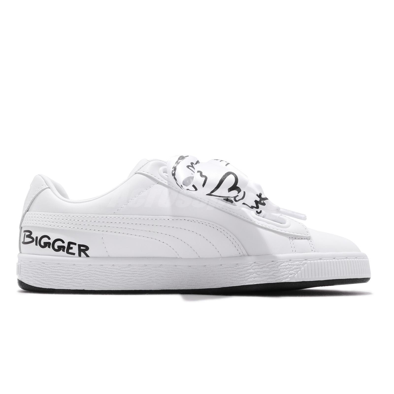 new york latest genuine shoes Puma Basket Heart HNDWRTTN Wns Hand Written Black White Women ...