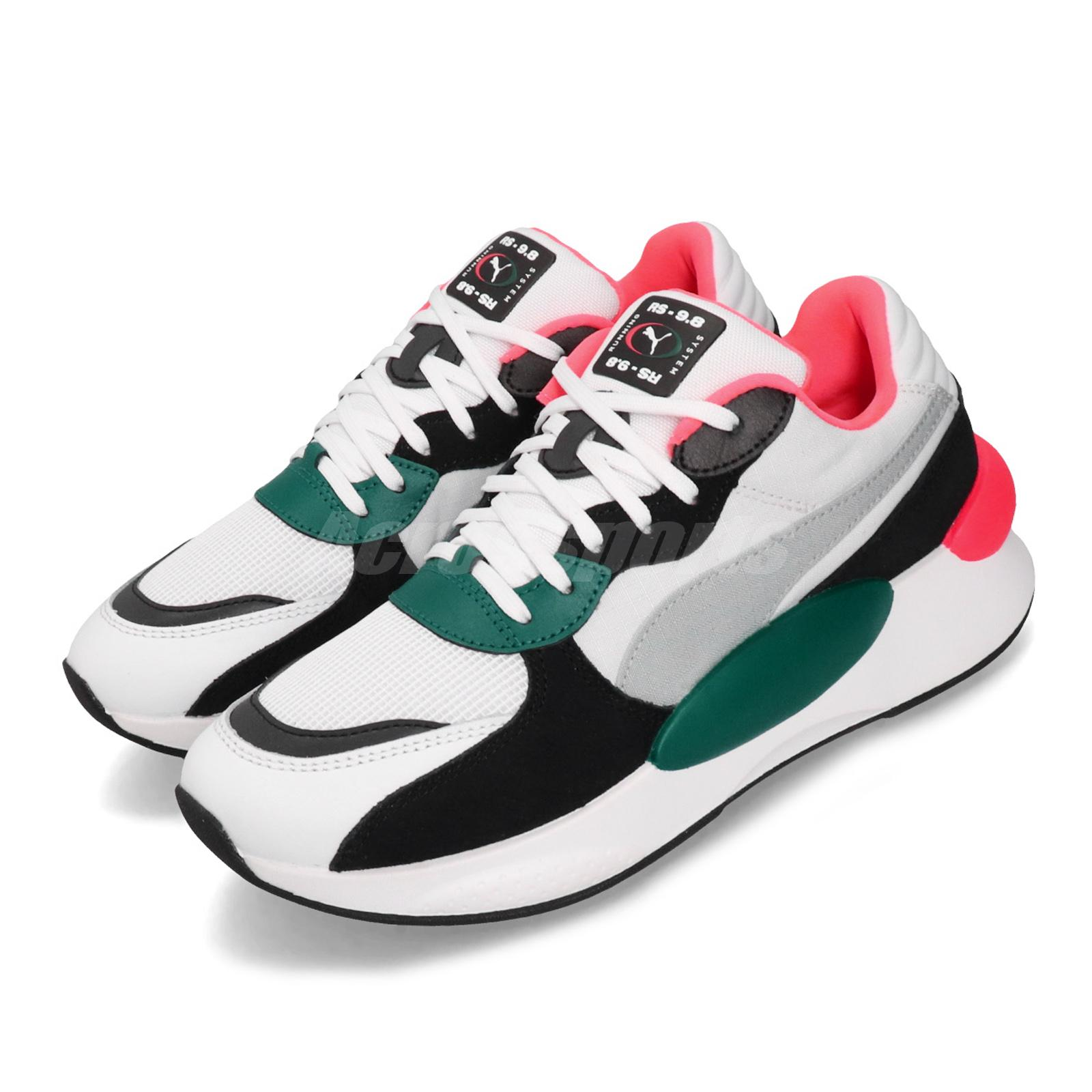 Details about Puma RS 9.8 Space White Teal Green Pink Mens Womens Running  Shoes 370230-04