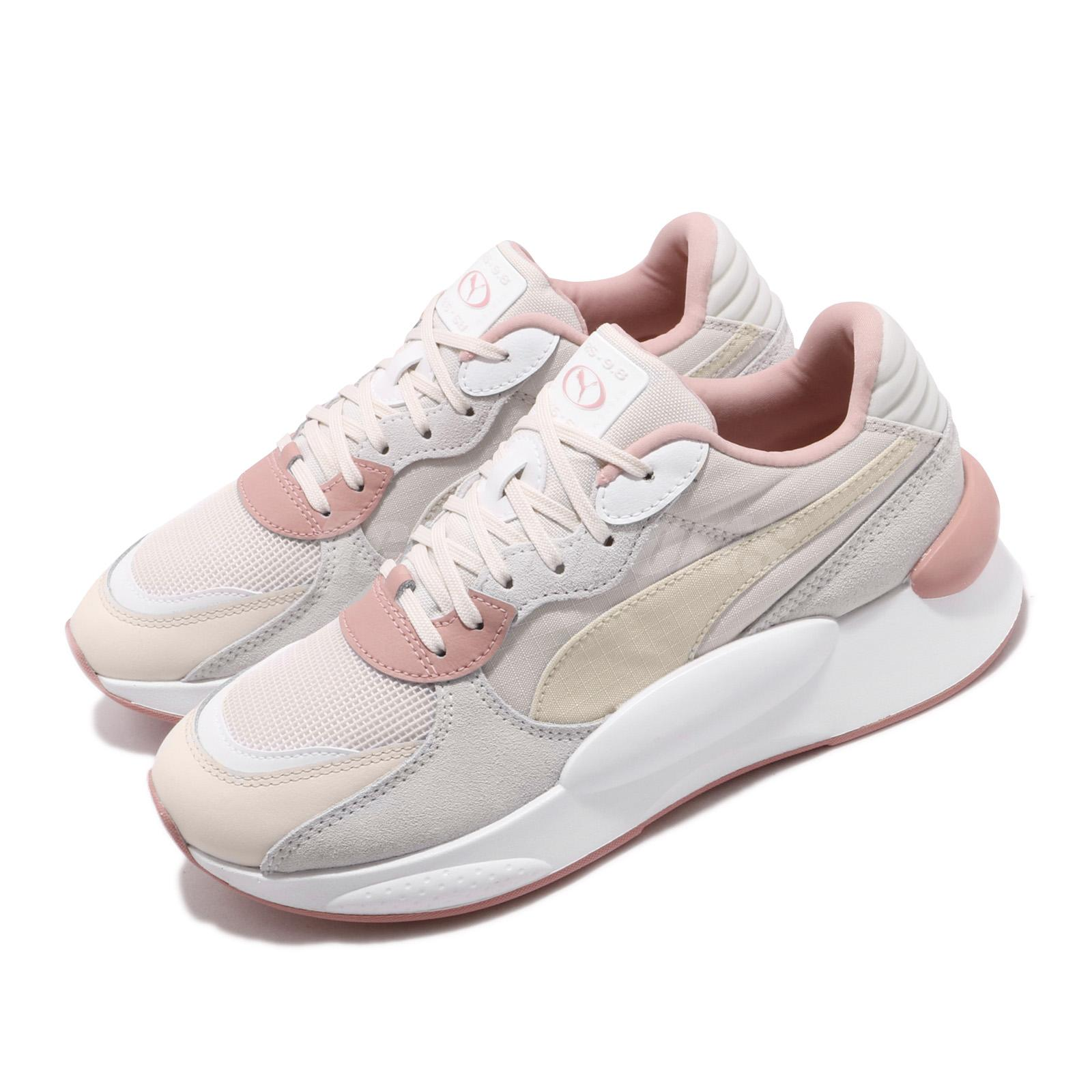 Details about Puma RS 9.8 Space Beige White Pink Suede Womens Lifestyle  Running Shoes 37023005
