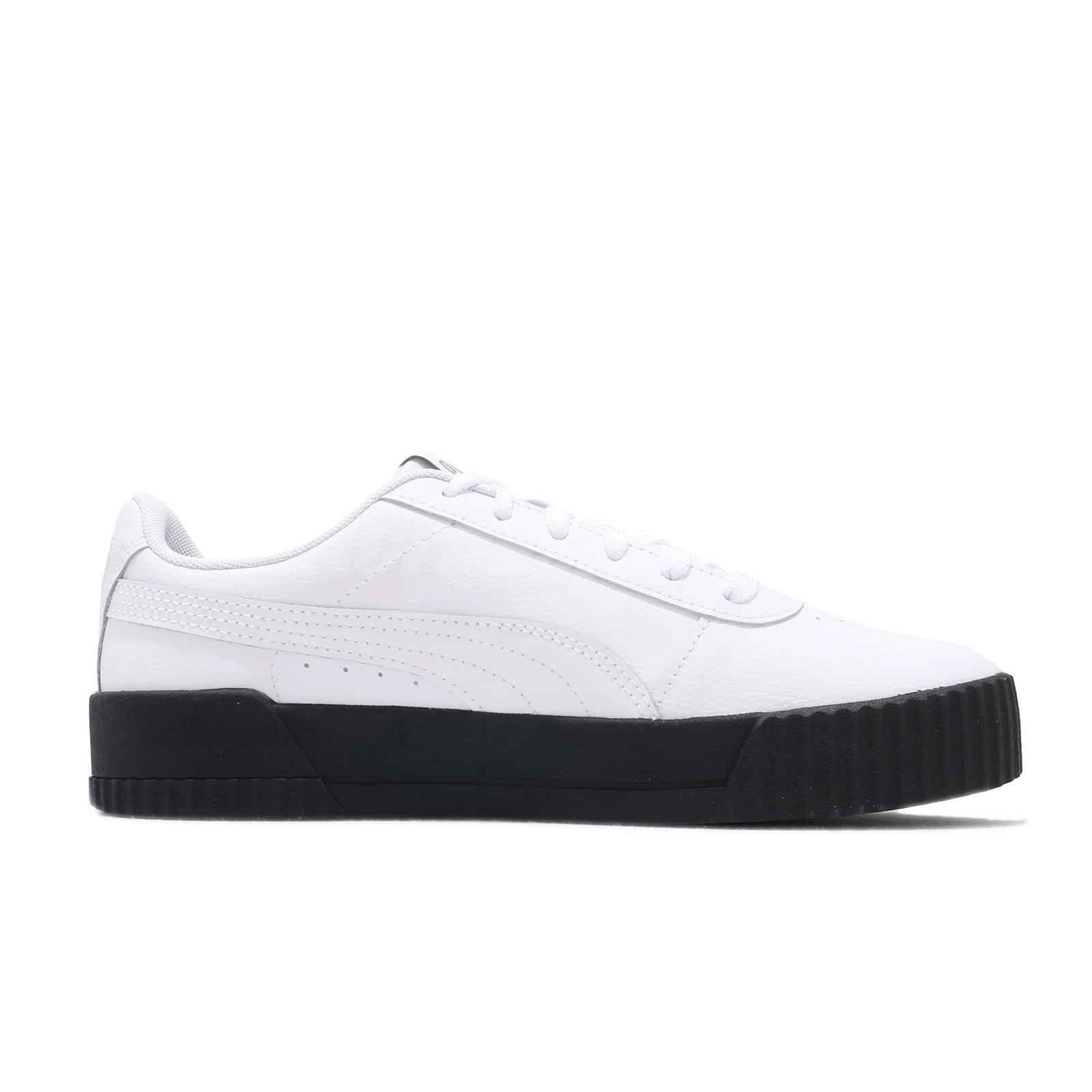 plato Crueldad Moviente  Puma Carina L Blanco Negro Plata Mujer Casual Zapatos Tenis Estilo de vida  370325-17 | eBay
