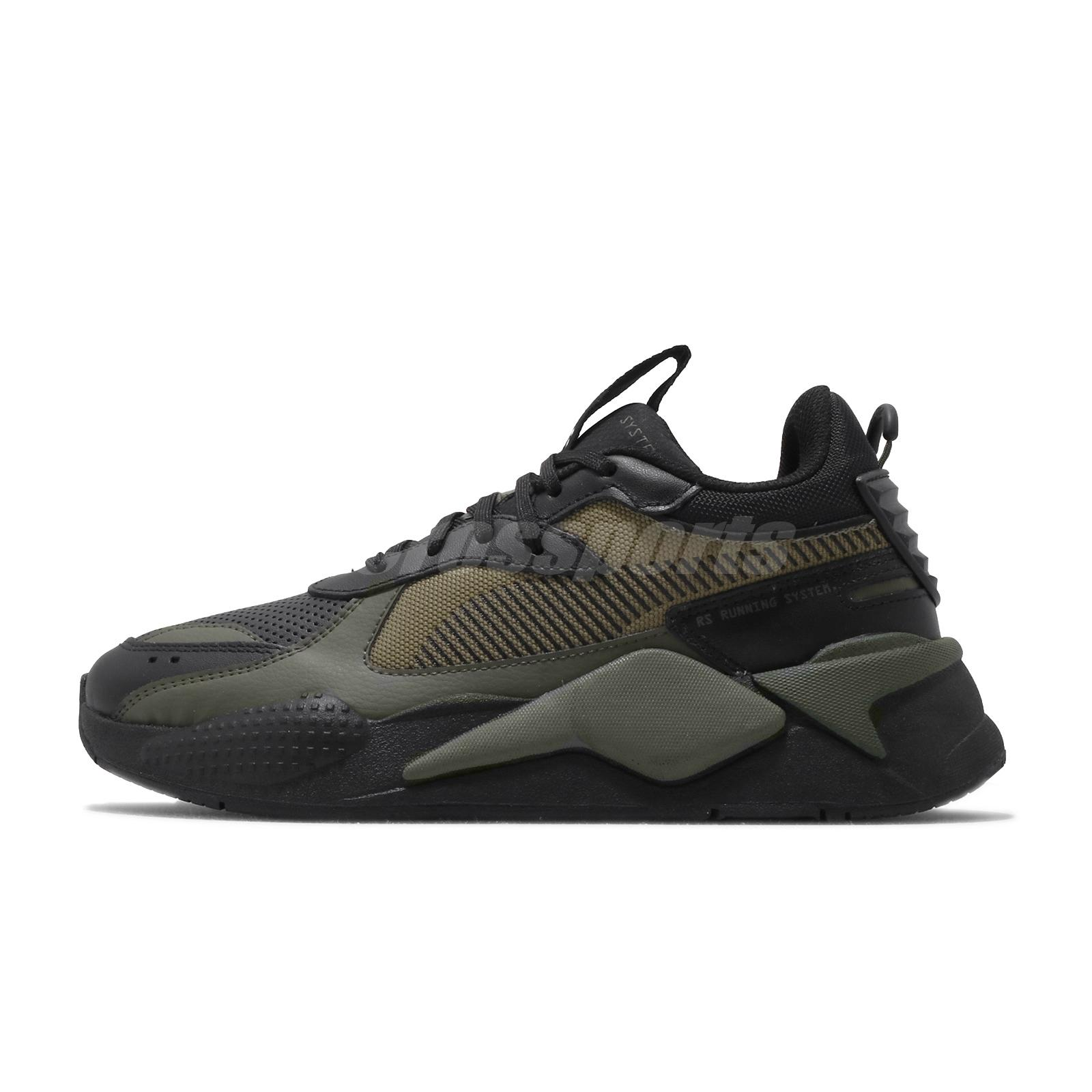 Details about Puma RS-X Winterized Running System Black Burnt Olive Men  Casual Shoes 370522-03