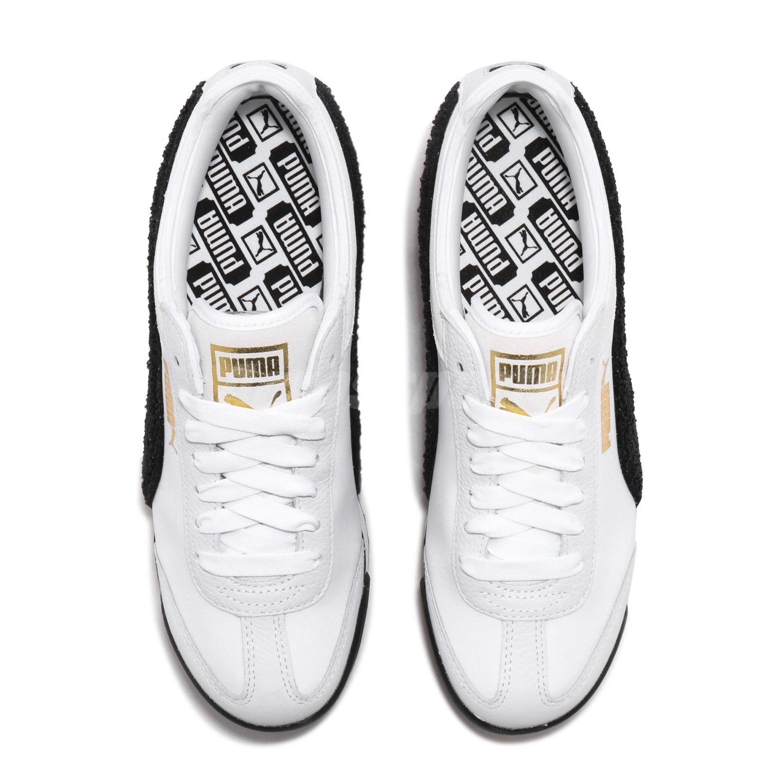 Détails sur Puma Roma Amor Heritage Wns White Black Gum Women Casual Platform Shoe 370947 01