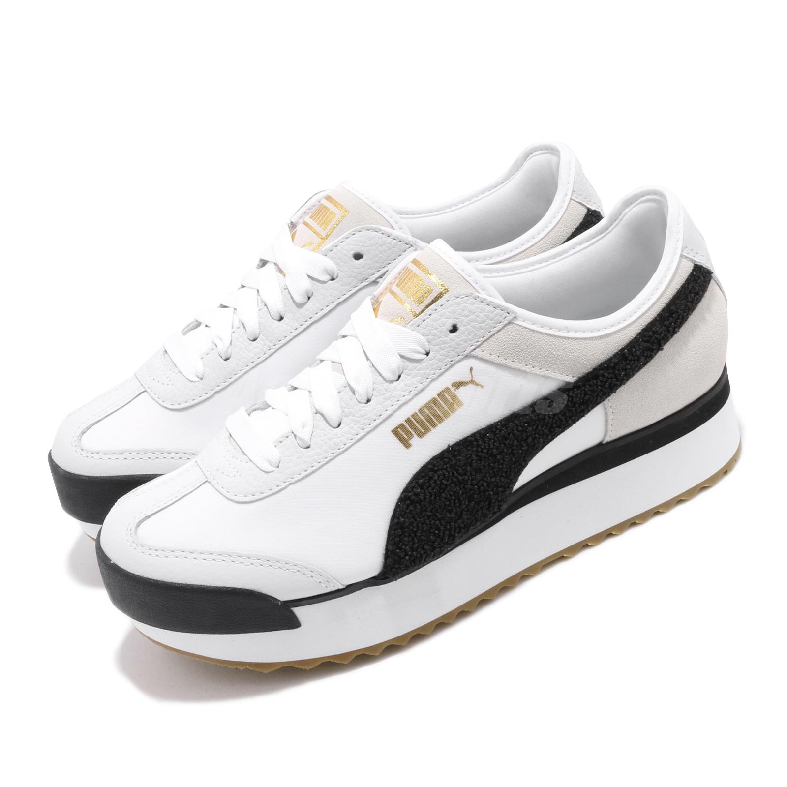 Details about Puma Roma Amor Heritage Wns White Black Gum Women Casual  Platform Shoe 370947-01