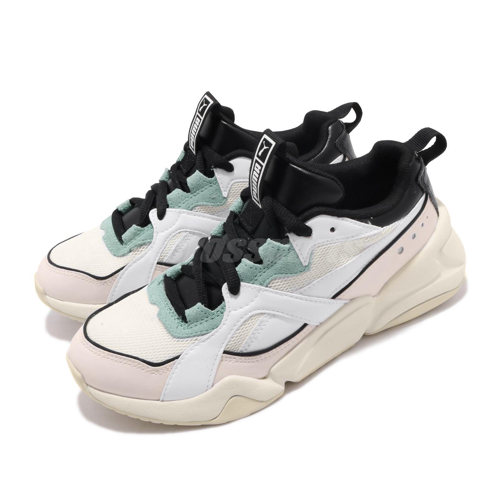 Details about Puma Nova 2 Wns White Pastel Parchment Black Women Running  Casual Shoe 370957-03