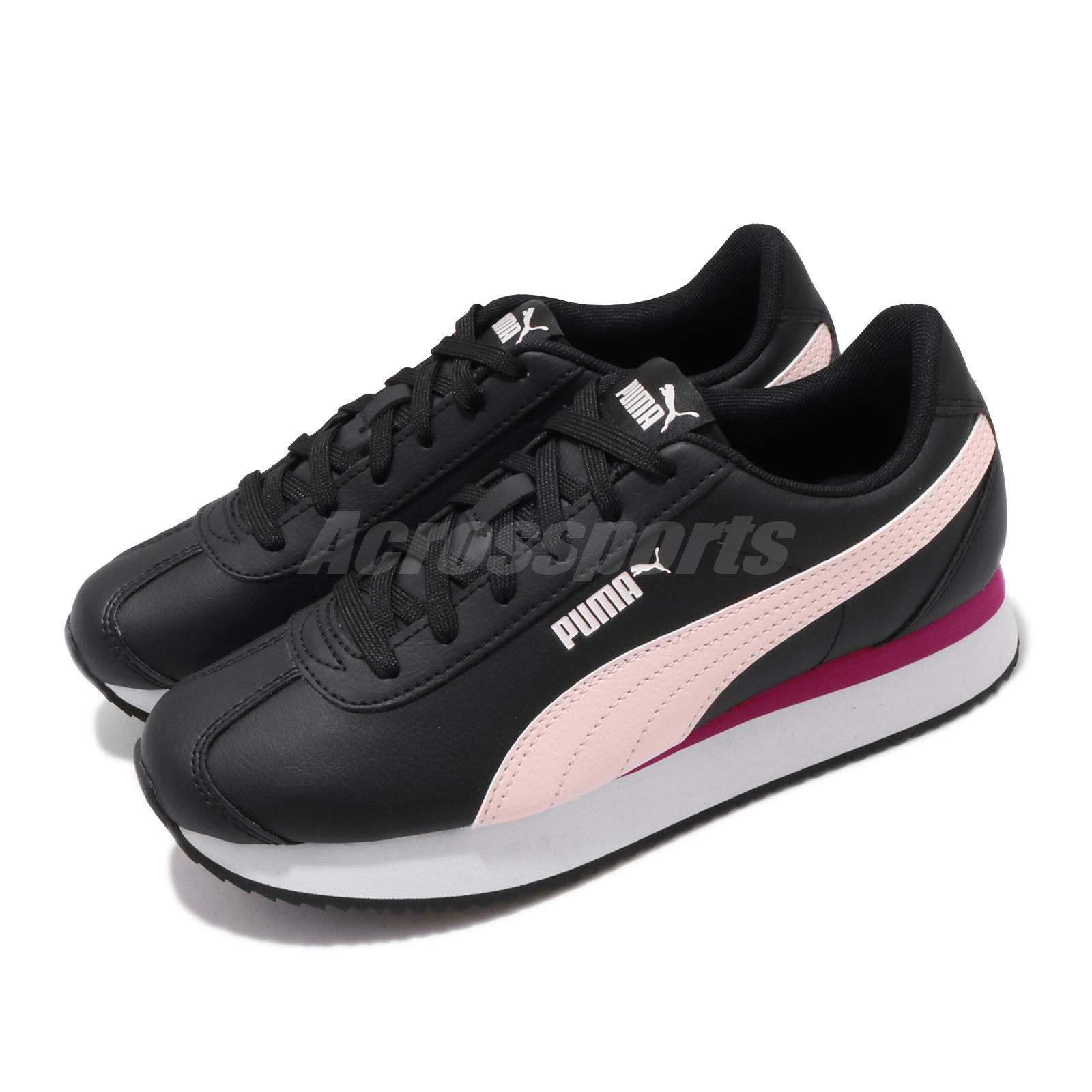 Details about Puma Turino Stacked Black Pink White Women Casual Shoes  Sneakers 371115-03