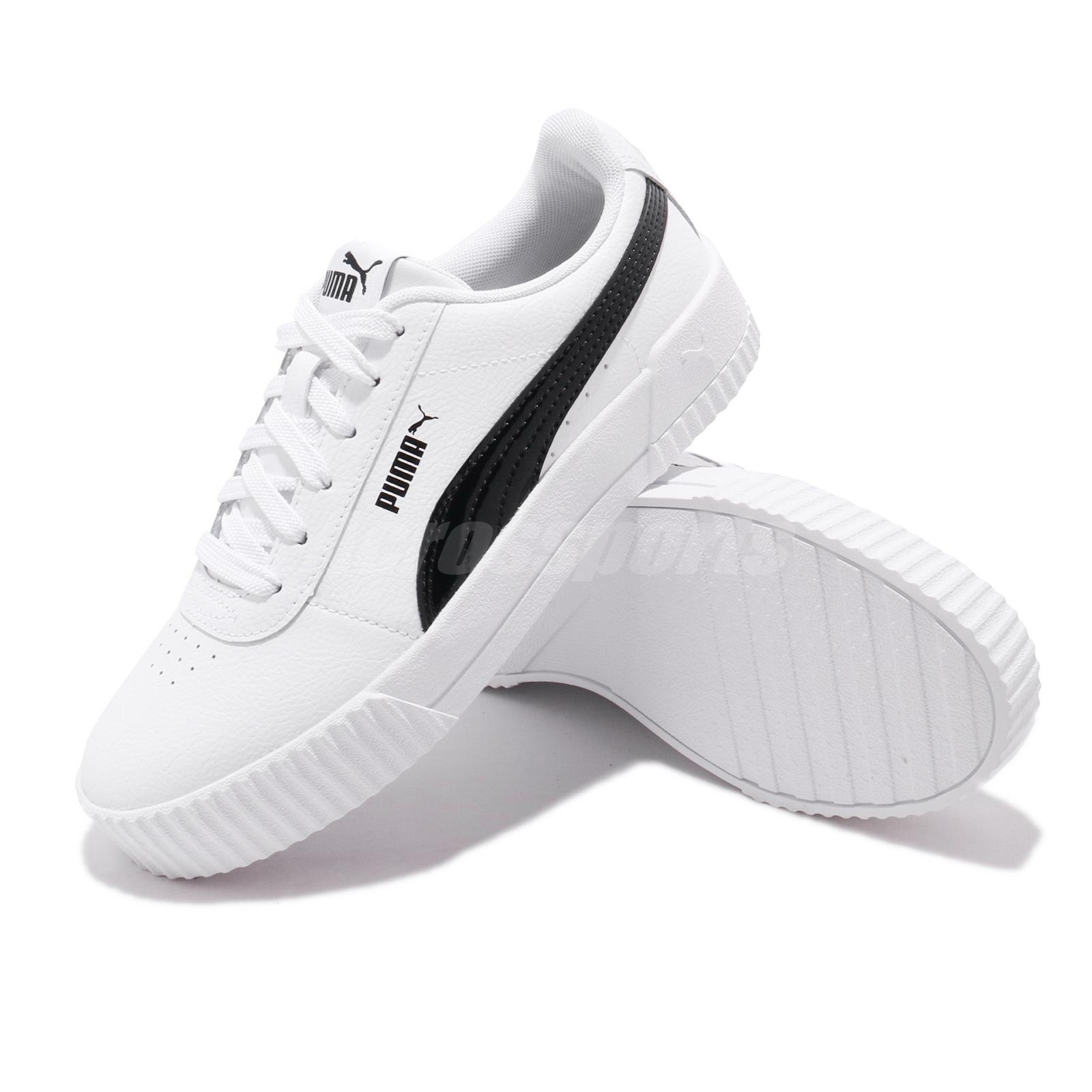 Détails sur Puma Carina PFS Wns White Black Women Casual Lifestyle Shoes Sneakers 371212 02