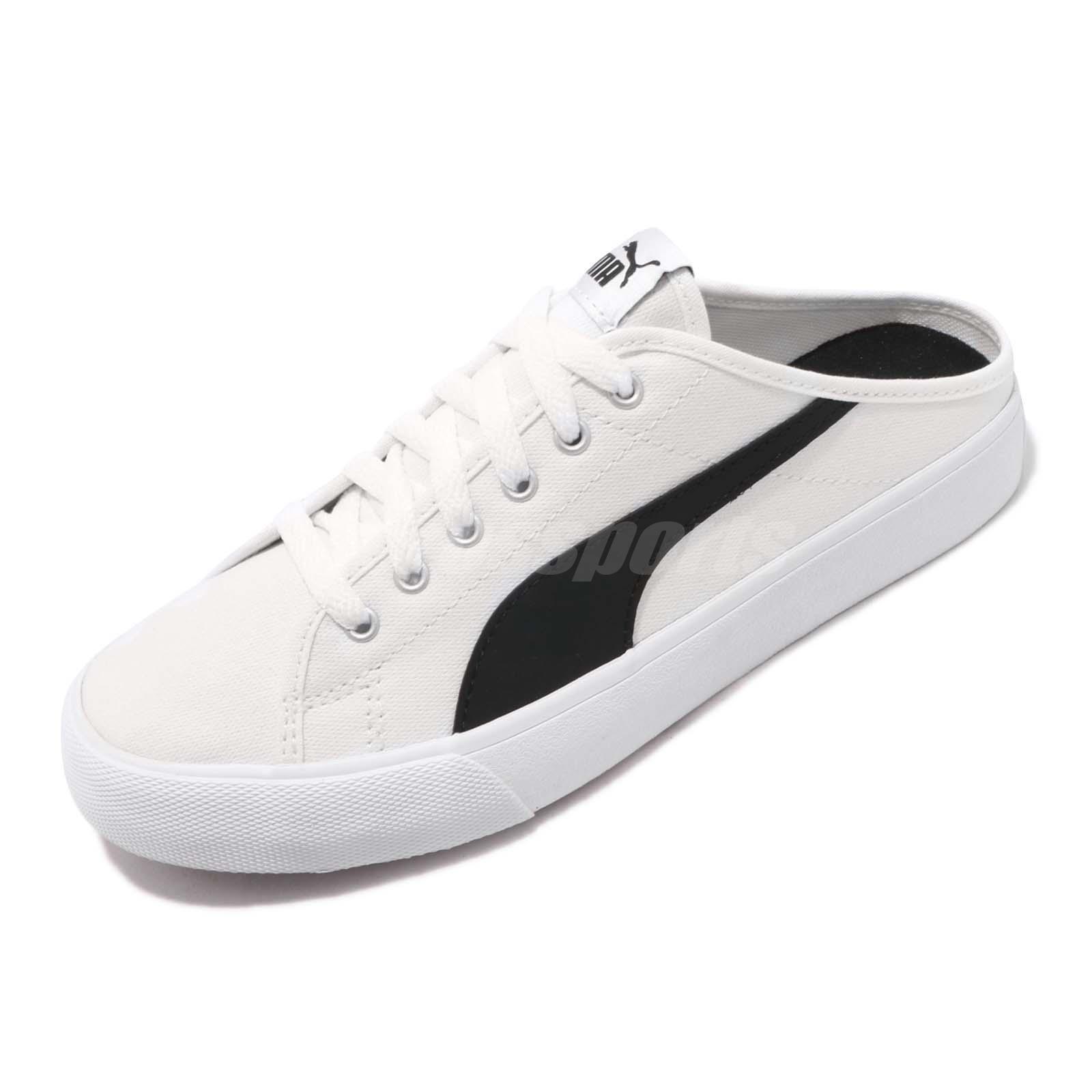 f8a6c9bd90 Puma Bari Mule White Black Mens Womens Casual Shoes Slip-On 37131802 ...
