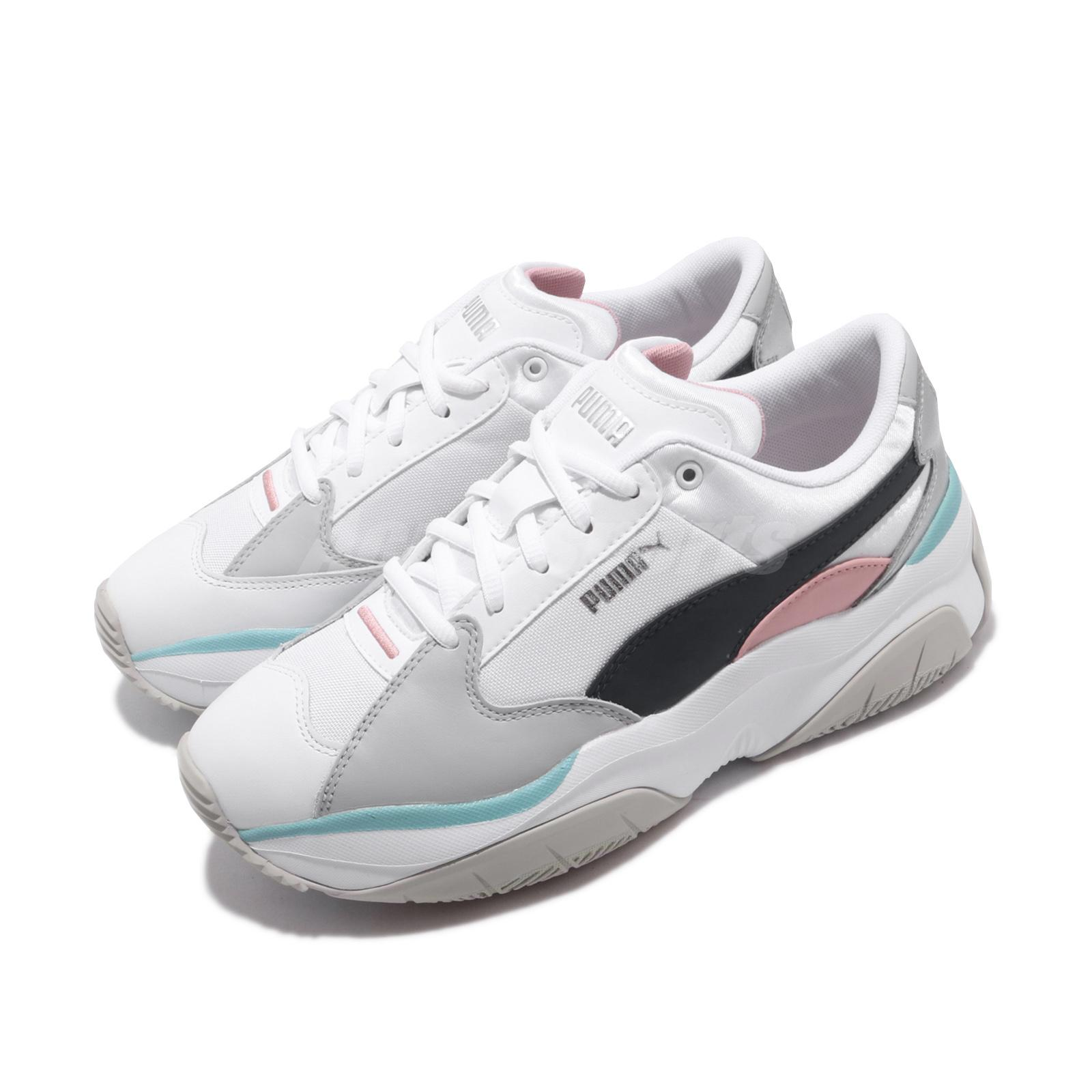 Detalles acerca de Puma Storm. Y Metallic Wns Peacoat White Pink Grey Women Daddy Shoes 371412 02