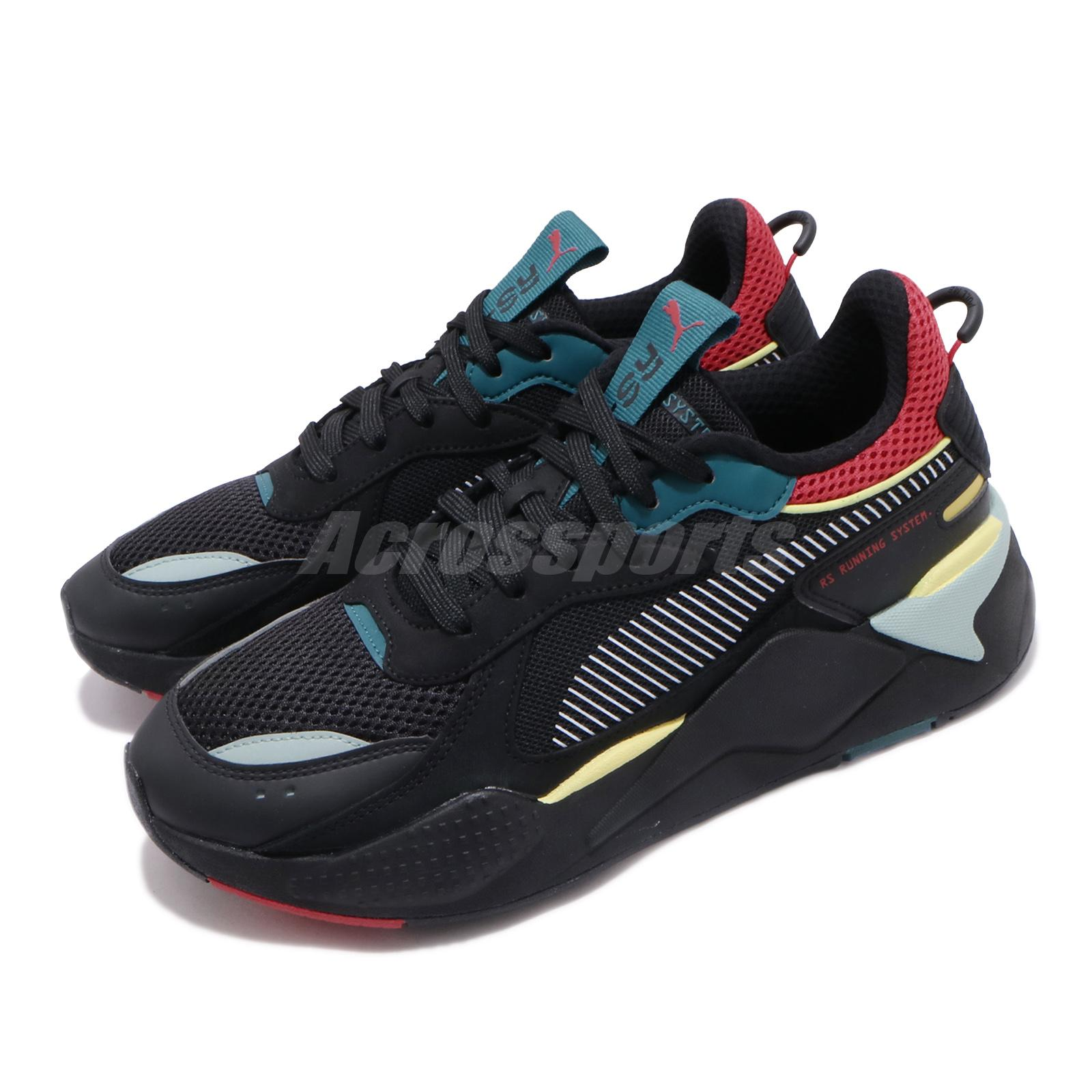 puma rs x black red