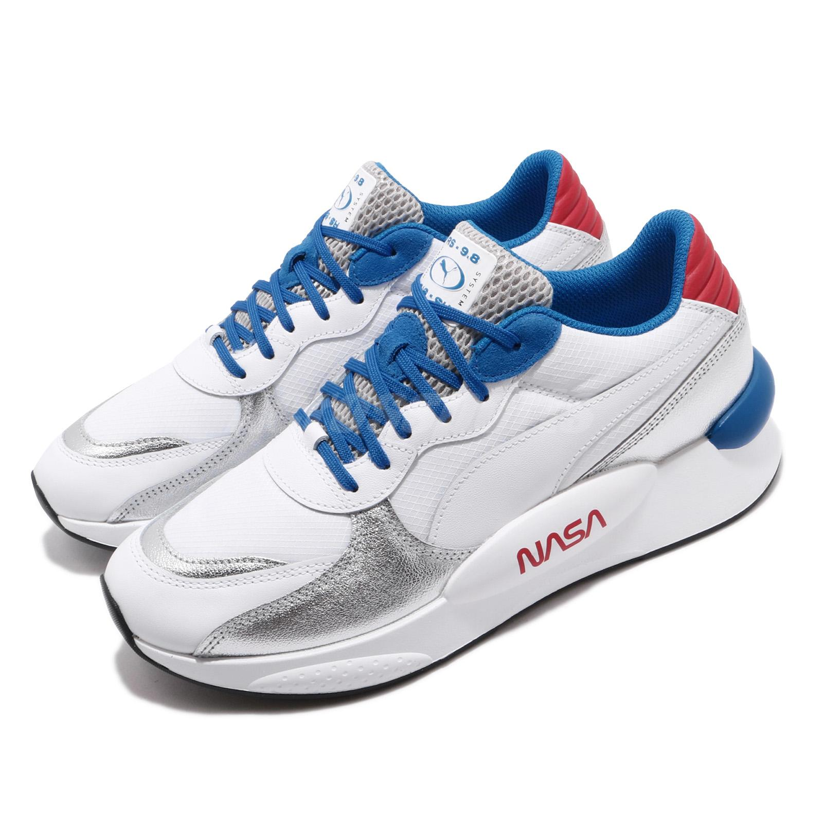 Details about Puma RS 9.8 X Space Agency NASA White Silver Red Blue Men  Running Shoe 372509-01