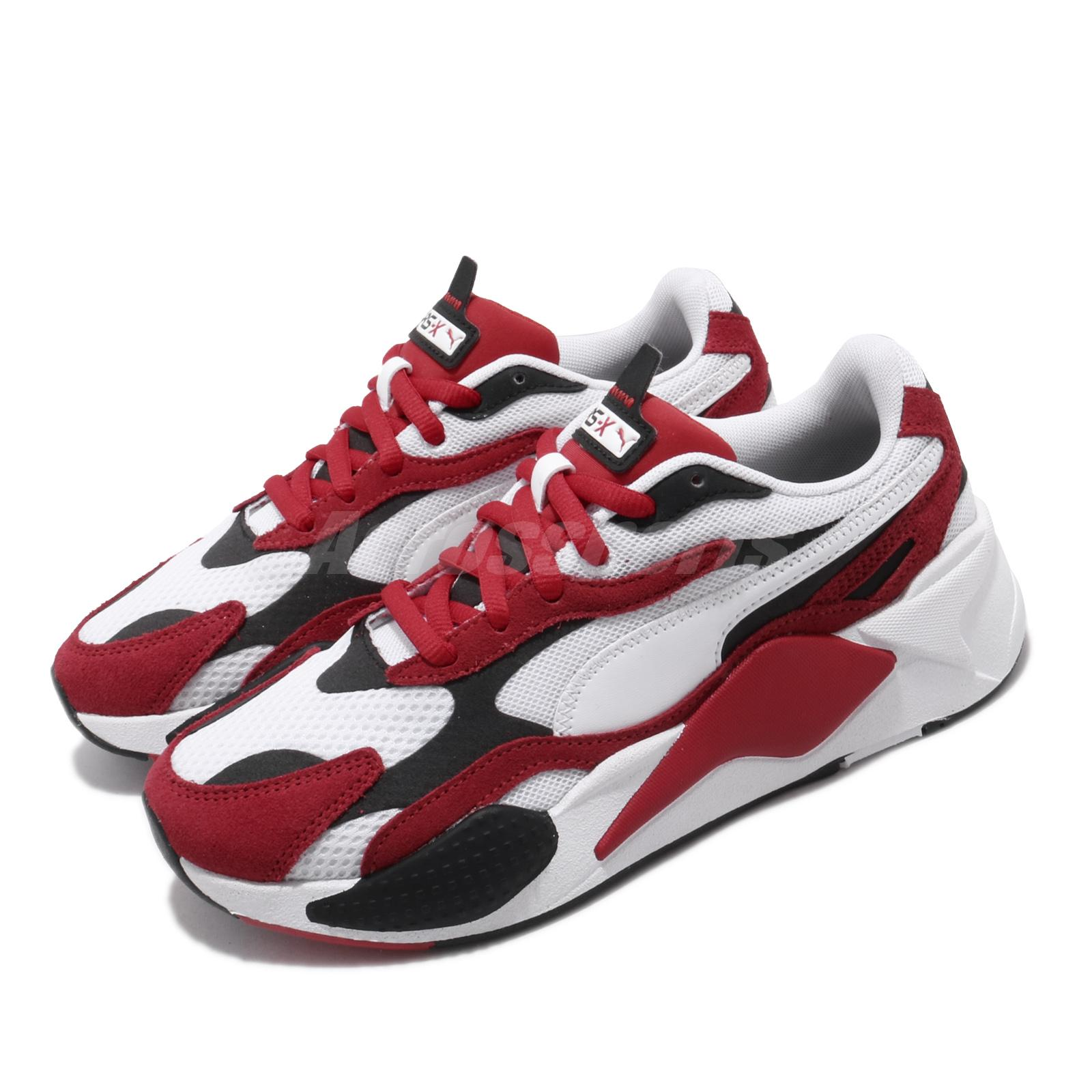 Details about Puma RS-X3 Super Running System White Red Men Women Unisex  Shoes 372884-01