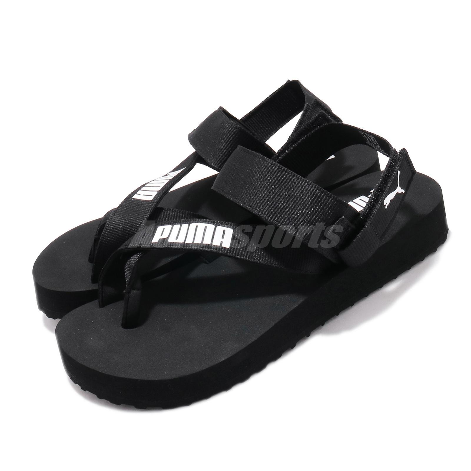 Puma SummerCat Black White Strap Women