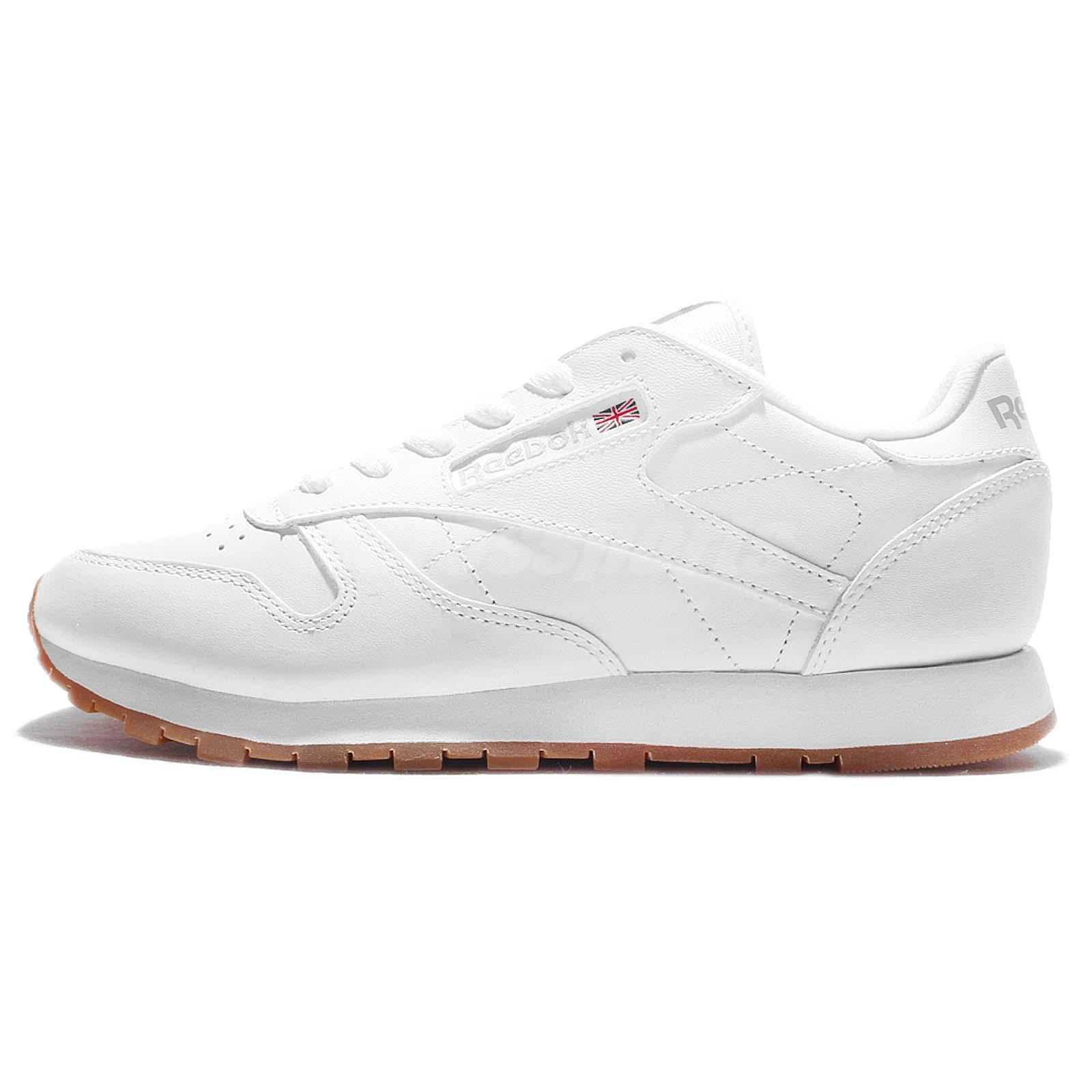 311a78798ca Reebok CL LTHR Classic Leather White Gum Women Casual Shoes Sneakers 49803