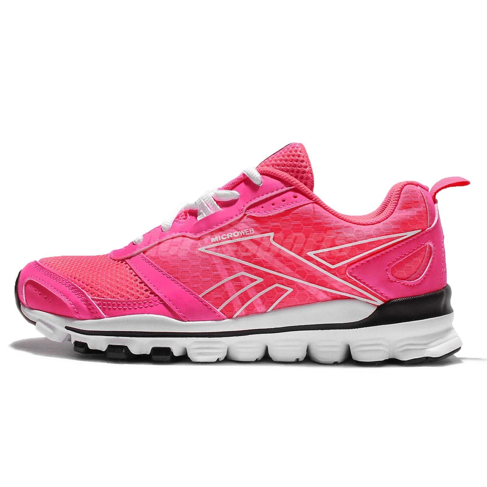Reebok Hexaffect Run LE Pink White Women Running Shoes Sneakers AQ9354 89db4870a
