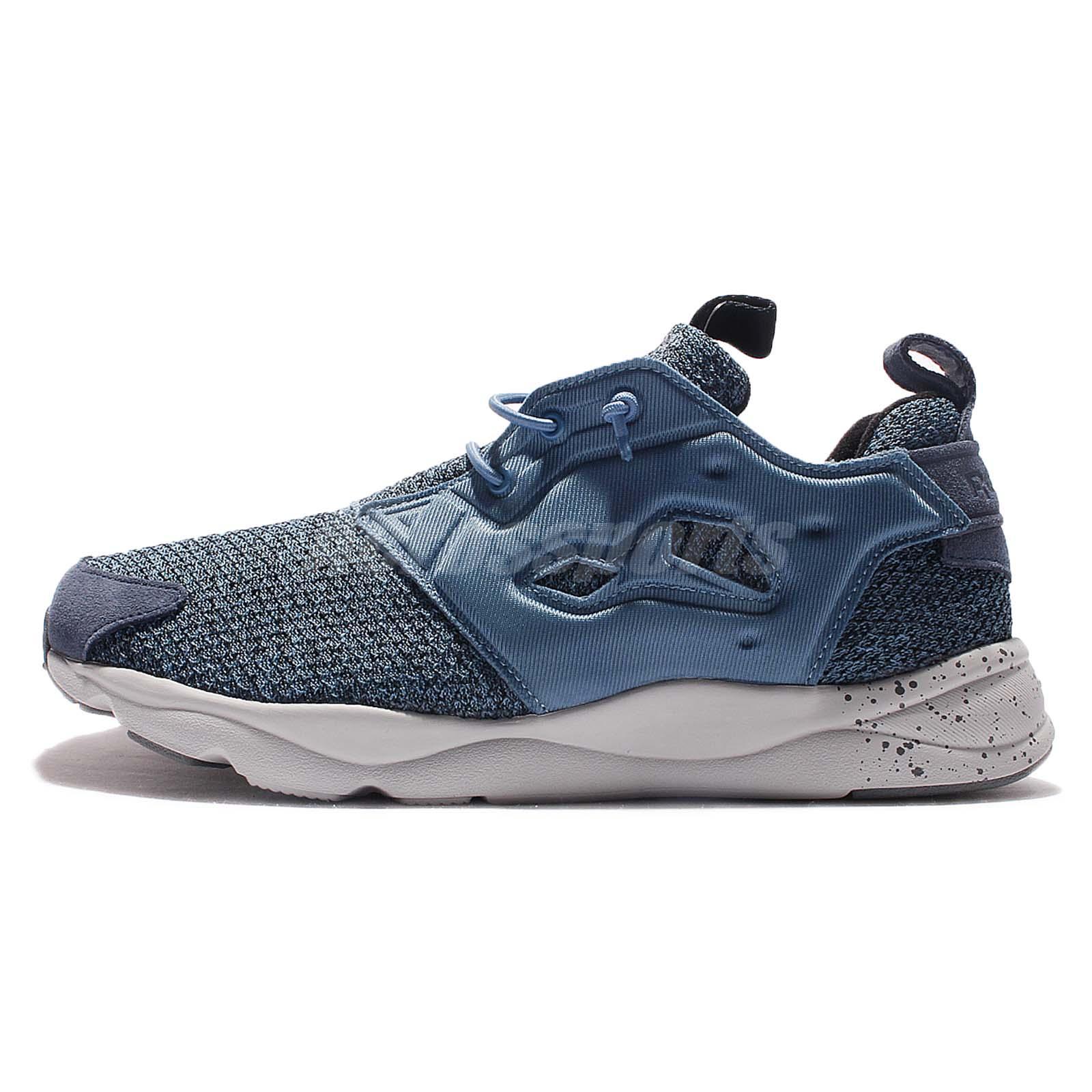 Reebok Furylite GW Blue Grey Men Casual Shoes Speckle Sneakers Trainers  AQ9674