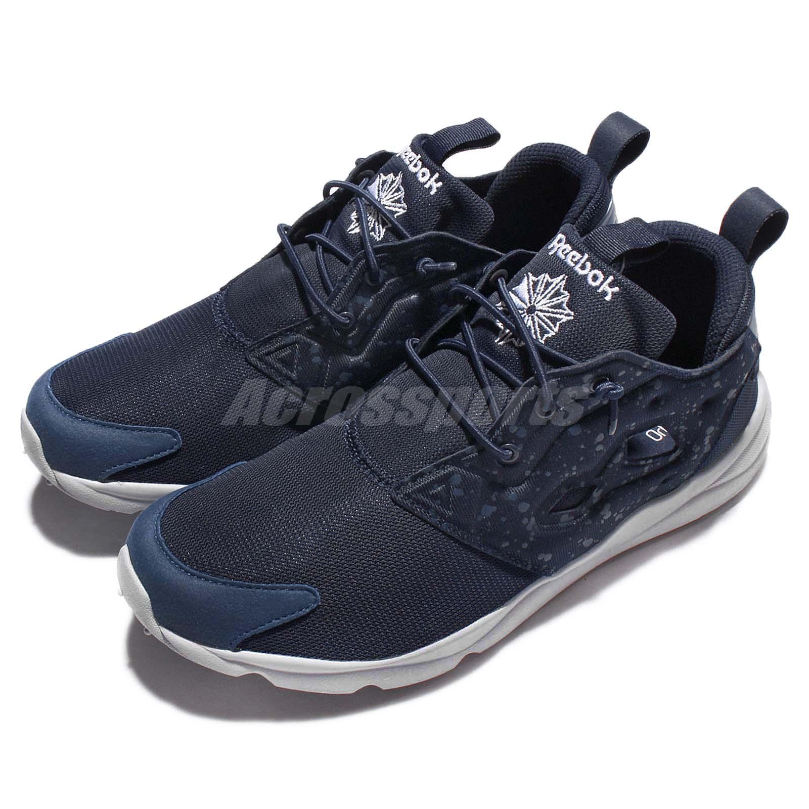 5517f67939f Reebok Furylite SP Azul Marino Gris Hombre Para Correr Zapatos Tenis ...