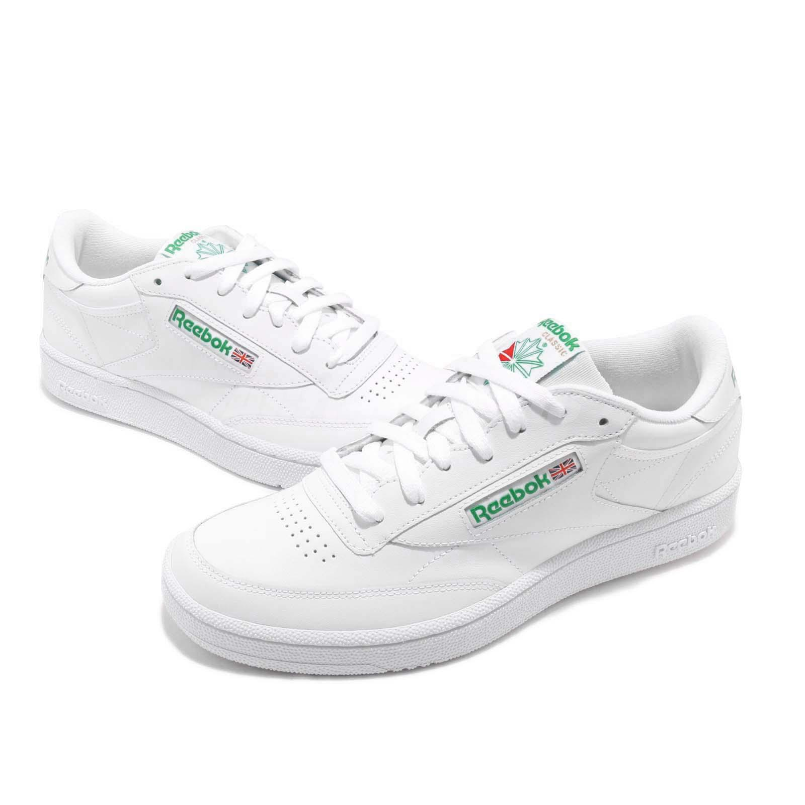 5c66e0b032a Details about Reebok Club C 85 White Green Men Classic Casual Lifestyle  Shoes Sneakers AR0456