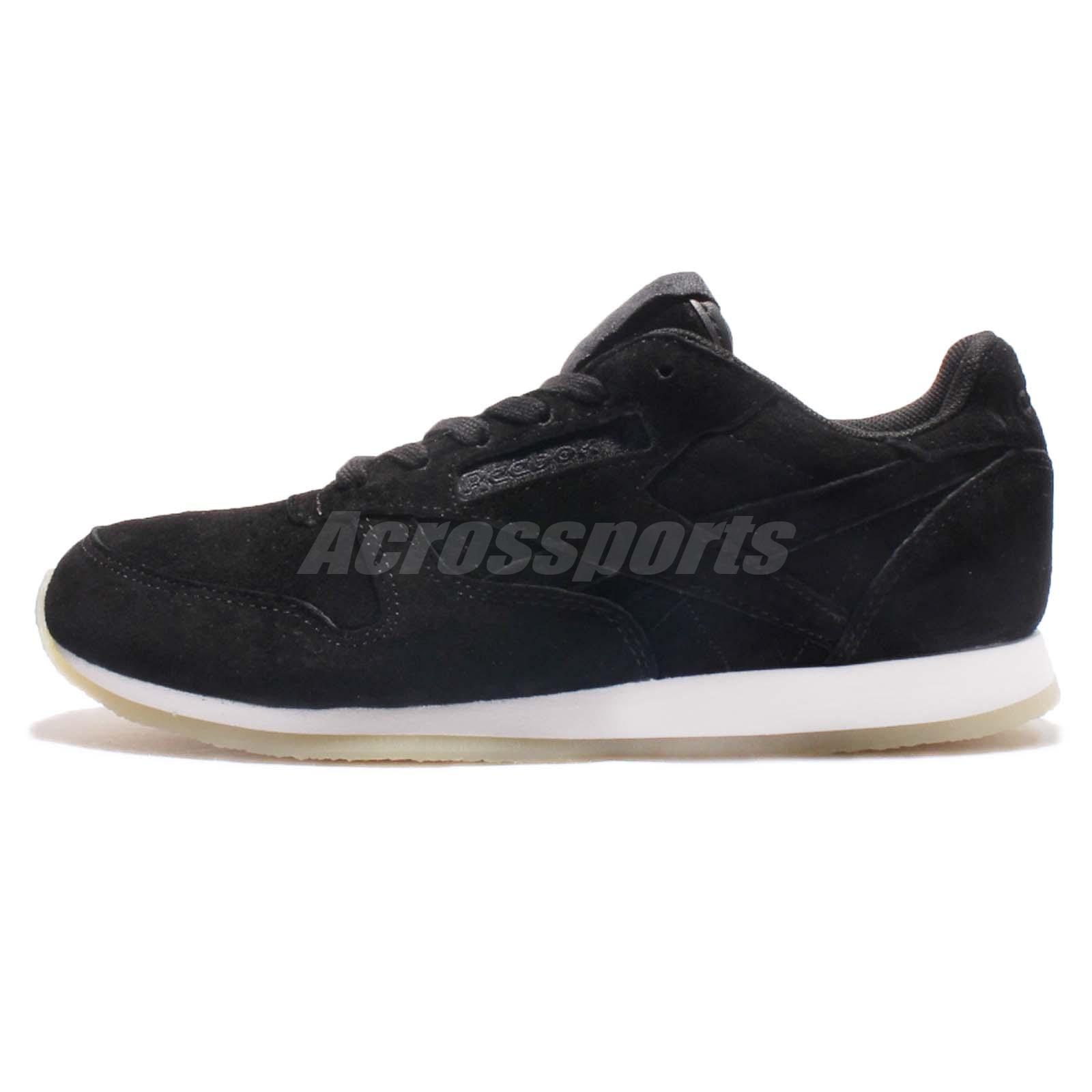 5e5f05c85a762 Reebok CL LTHR Crepe Neutral POP Classic Leather Black White Women Shoes  AR0986