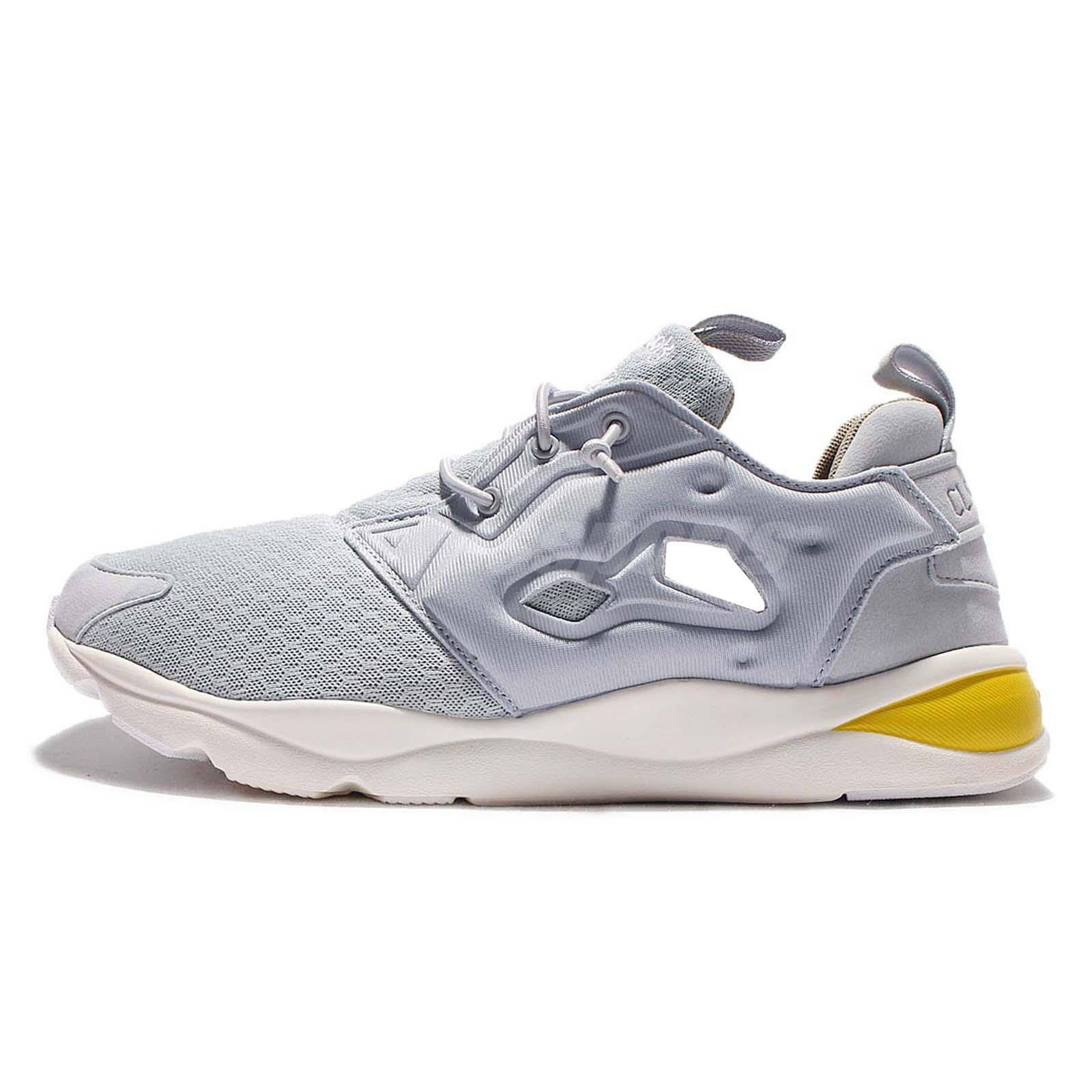 ... Reebok Furylite CLSHX Grey Yellow Mens Casual Shoes Sneakers Trainers  AR1321 ... f0dc37cc1