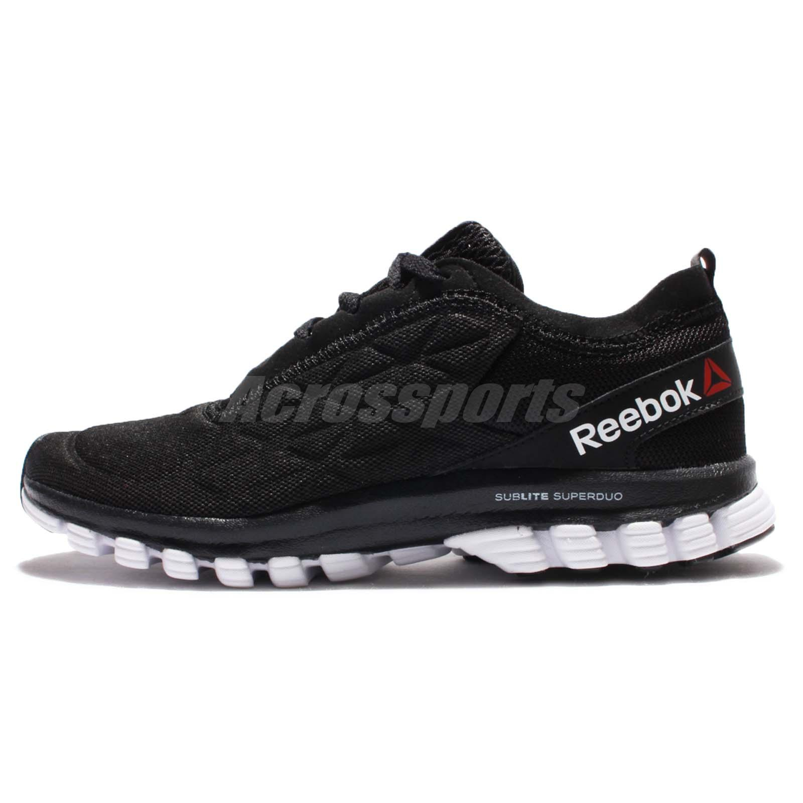 88f9c4945af Reebok Sublite Super DUO 3.0 III Black White Women Running Shoes Sneakers  AR2683