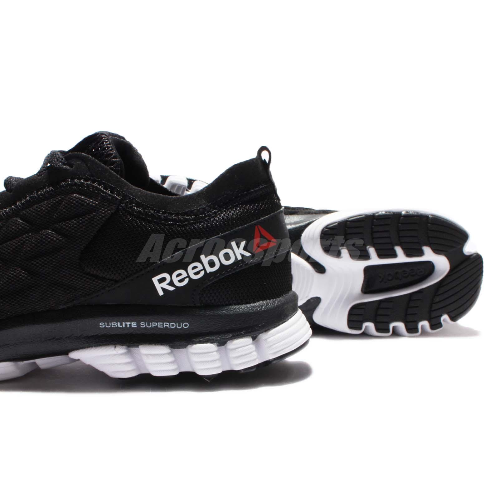 Reebok Sublite Super DUO 3.0 III Black White Women Running Shoes ... 02b474b52