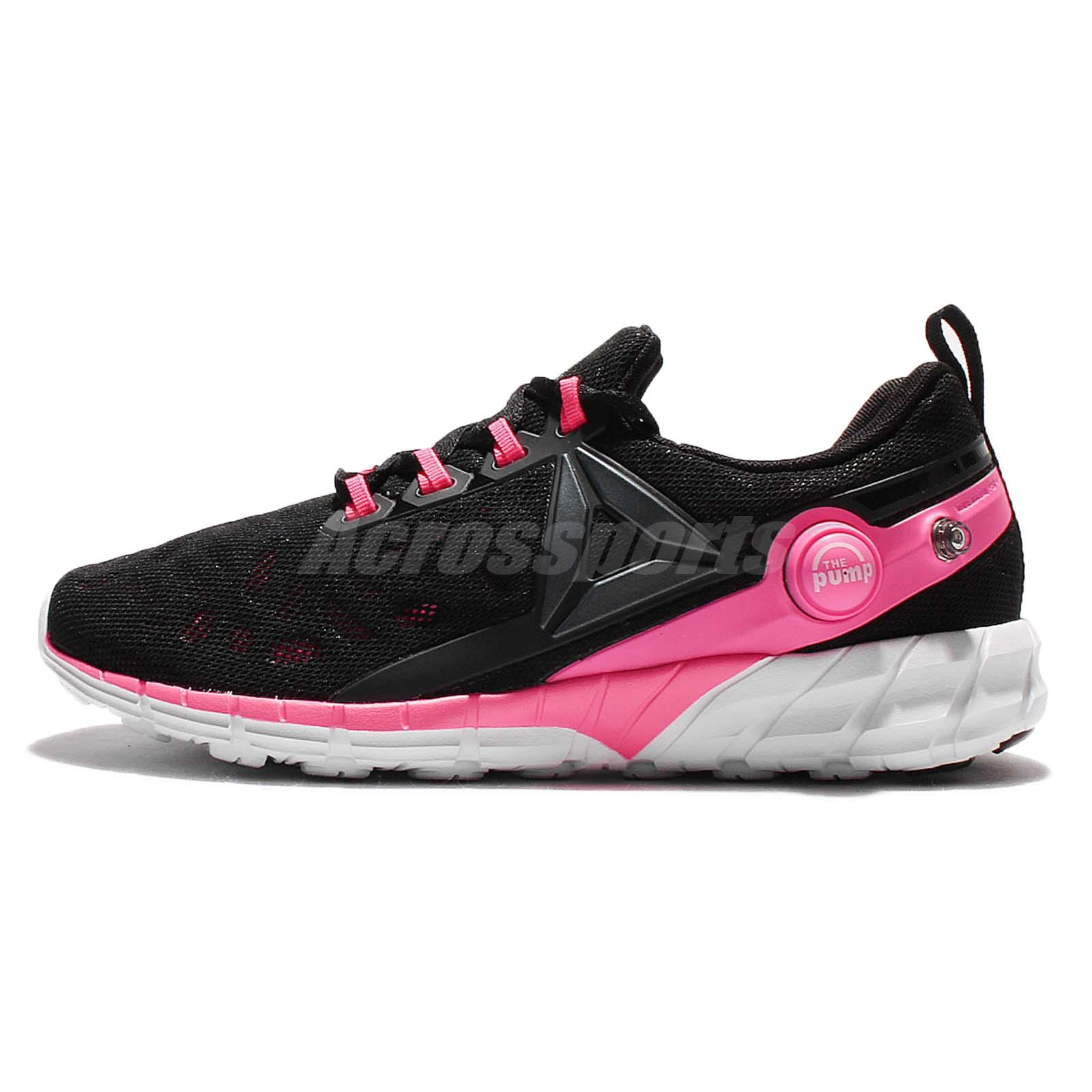 Reebok ZPump Fusion 2.5 Black Pink Women Running Shoes Sneakers AR2816 5151a9fec