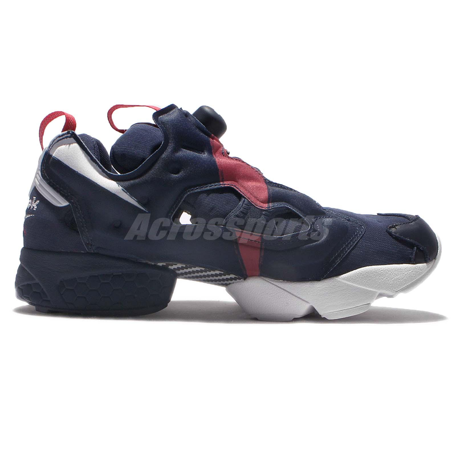 reebok insta pump fury ob overbranded navy red men running shoes sneakers ar3197 ebay. Black Bedroom Furniture Sets. Home Design Ideas