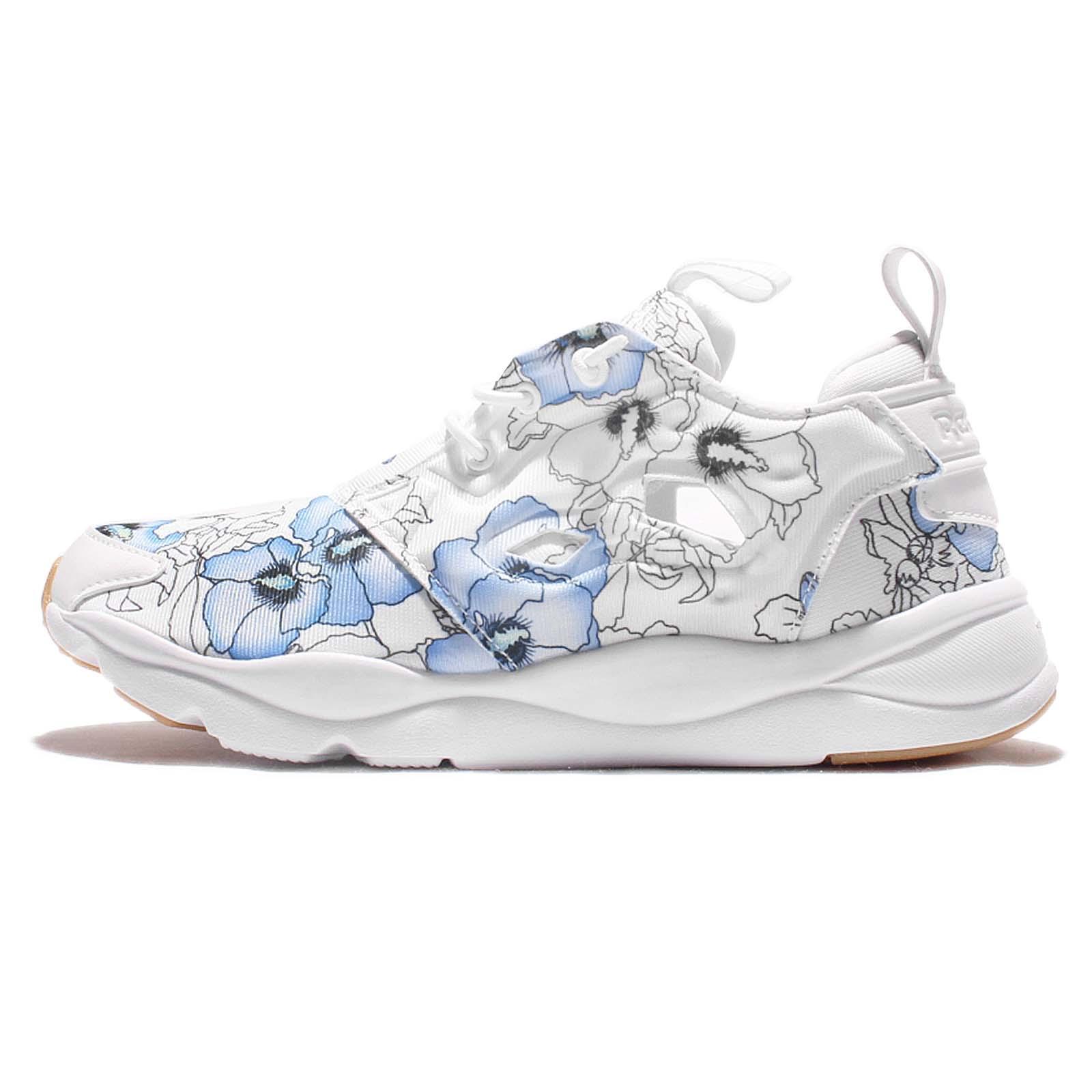 626330a32252 Reebok Furylite FG Floral Bloom Rose of Sharon White Blue Women Shoes BD1098