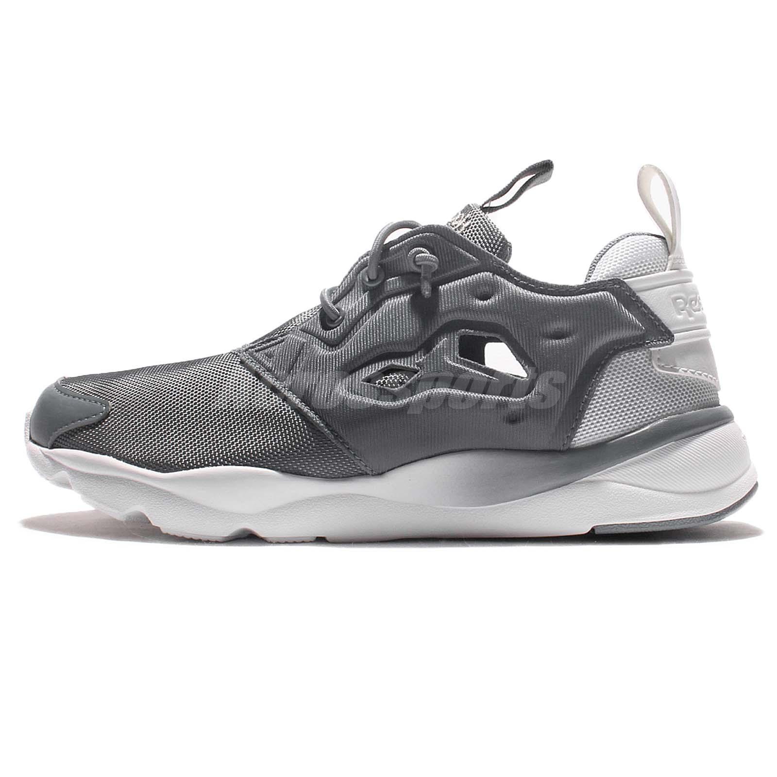 4fa4cc789c1678 ... Reebok Furylite Clean Asteroid Dust Grey White Women Casual Shoe  Sneakers BD1436 ...