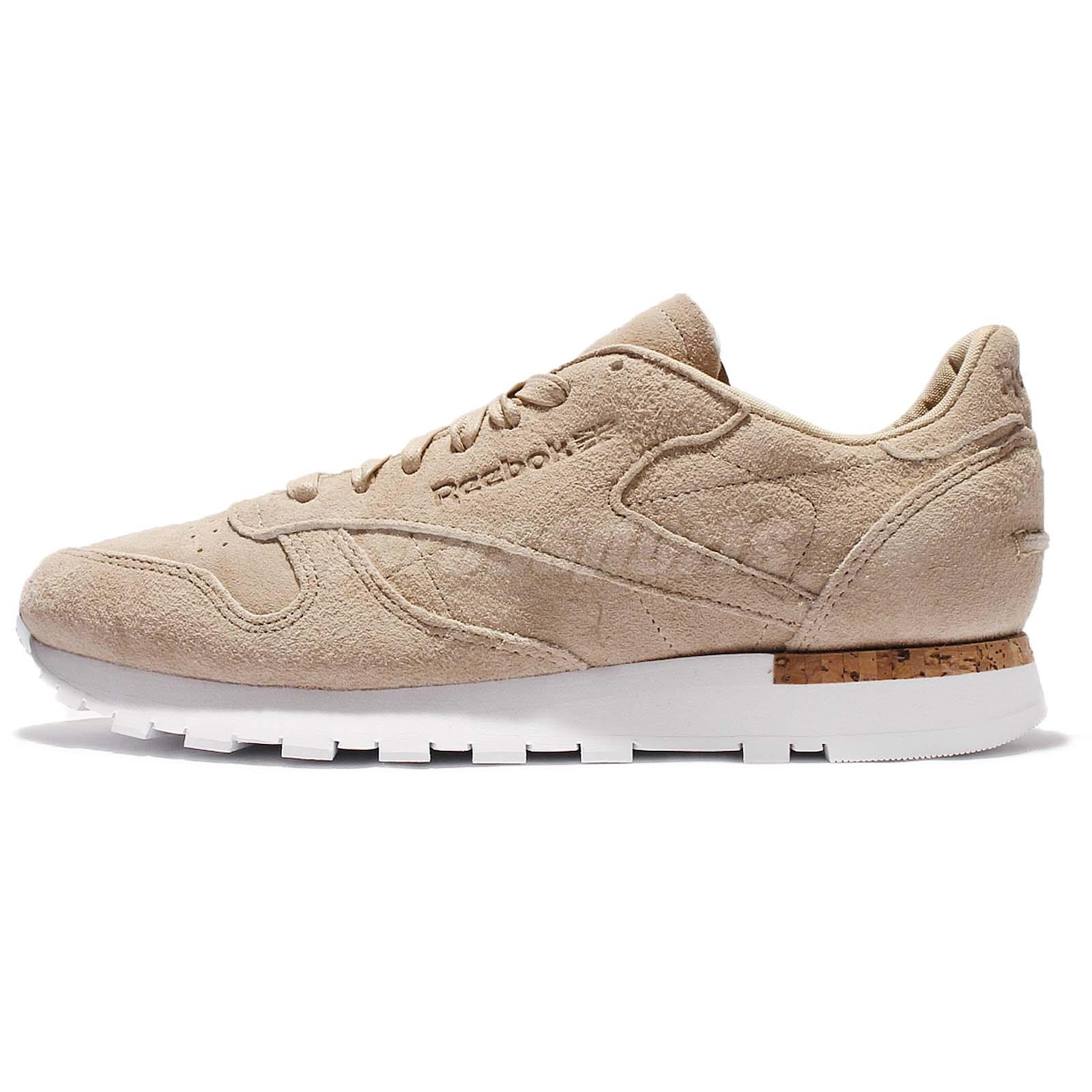 Reebok CL Leather LST Oatmeal Drift Wood Suede Men Casual Shoes Sneakers  BD1900
