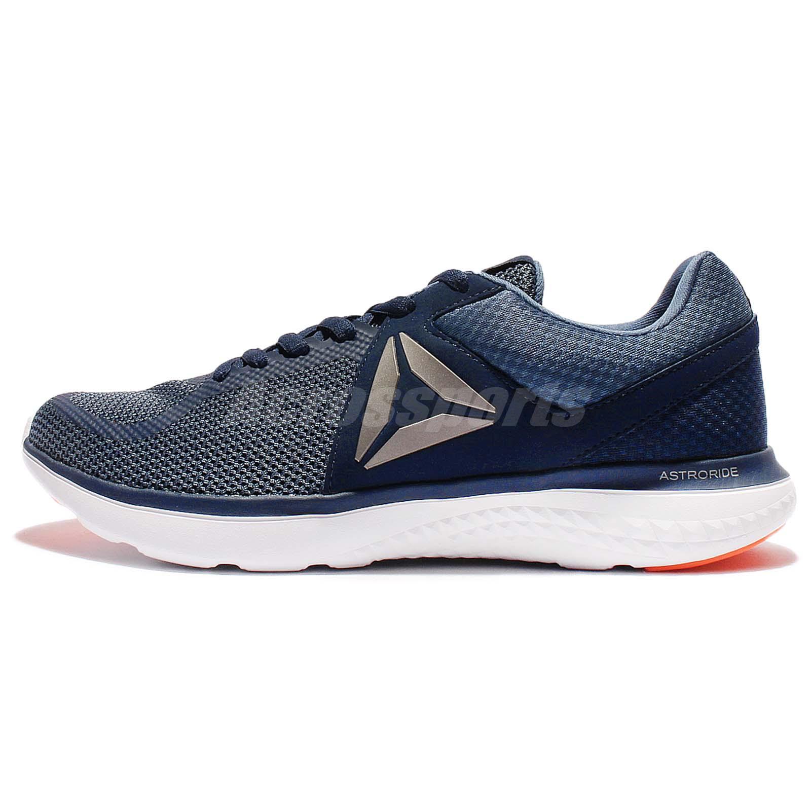 Reebok Astroride Run Navy Blue Orange White Men Running Shoes Sneakers  BD2203 f9cd9fb90