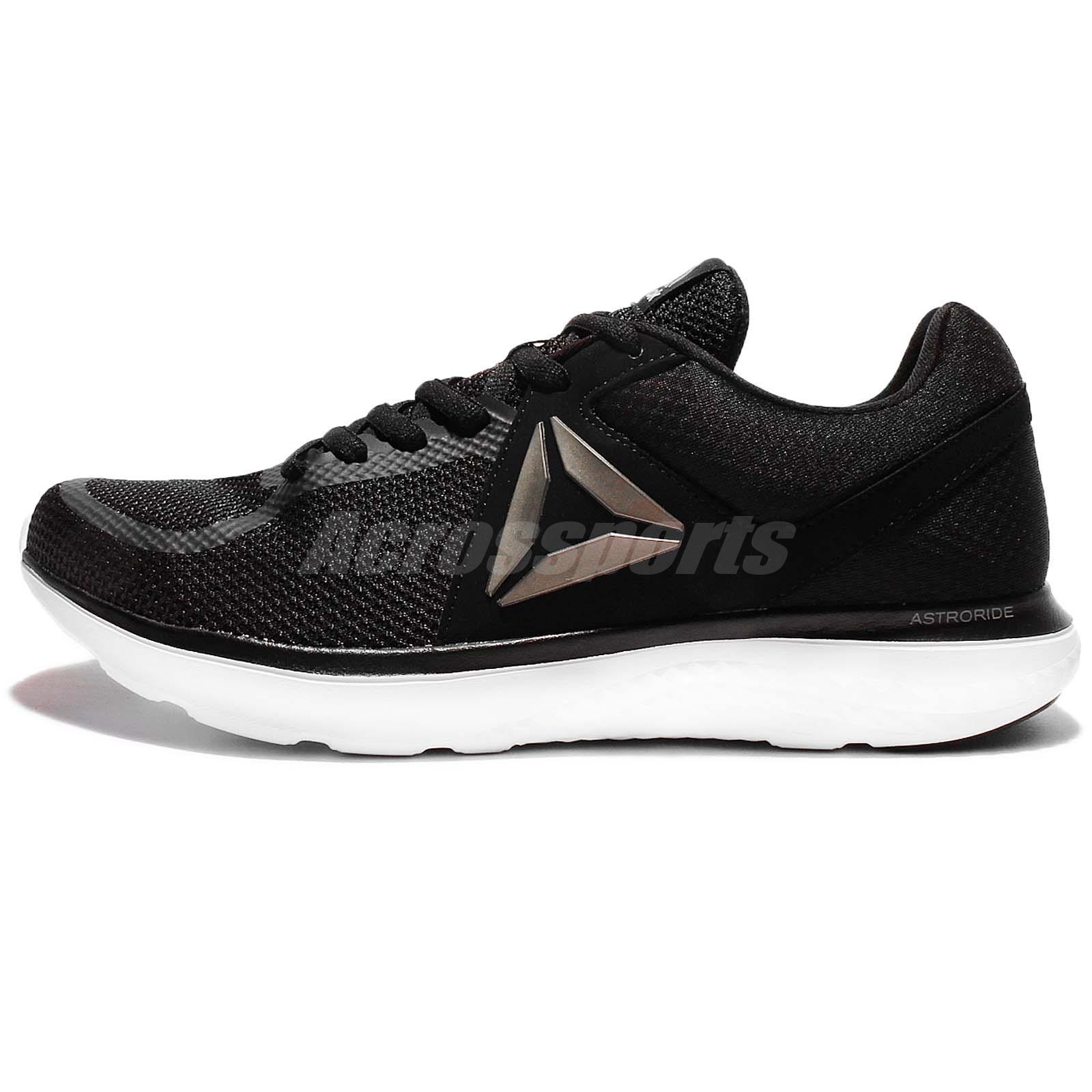 reebok running shoes black. reebok astroride run black silver men running shoes sneakers trainers bd2206 b