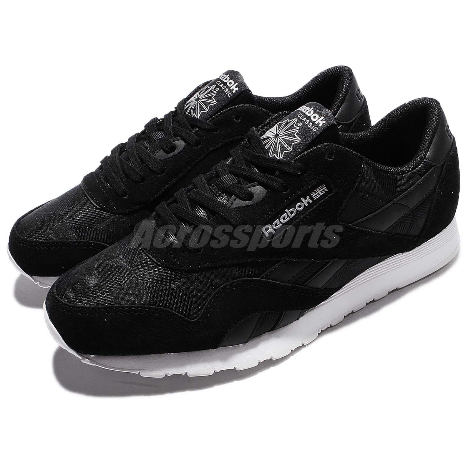 7dbbf84f606628 Details about Reebok CL Nylon Arch Black White Suede Men Classic Shoes  Retro Sneakers BD3077