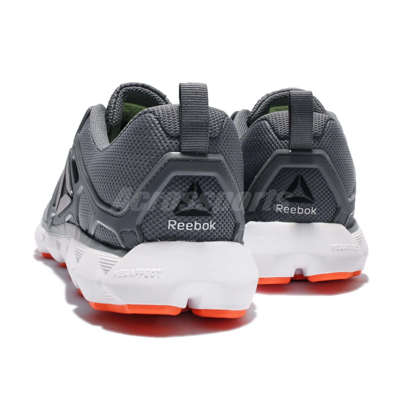 b322fd3263c5fd Reebok Hexaffect Run 5.0 MTM Grey Orange White Men Running Shoes ...