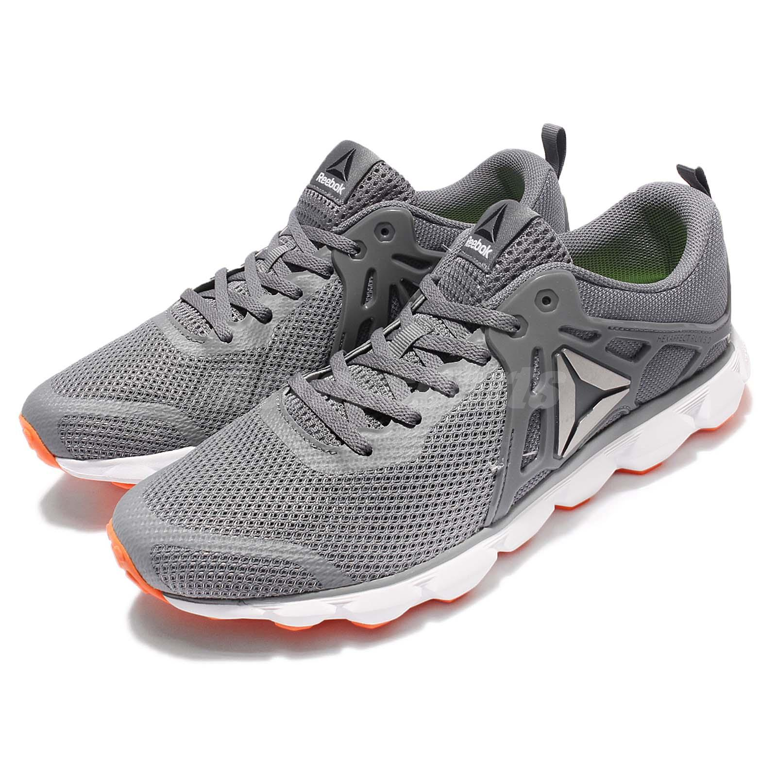 100% authentic f5614 ea7f4 Details about Reebok Hexaffect Run 5.0 MTM Grey Orange White Men Running  Shoes Sneakers BD4698