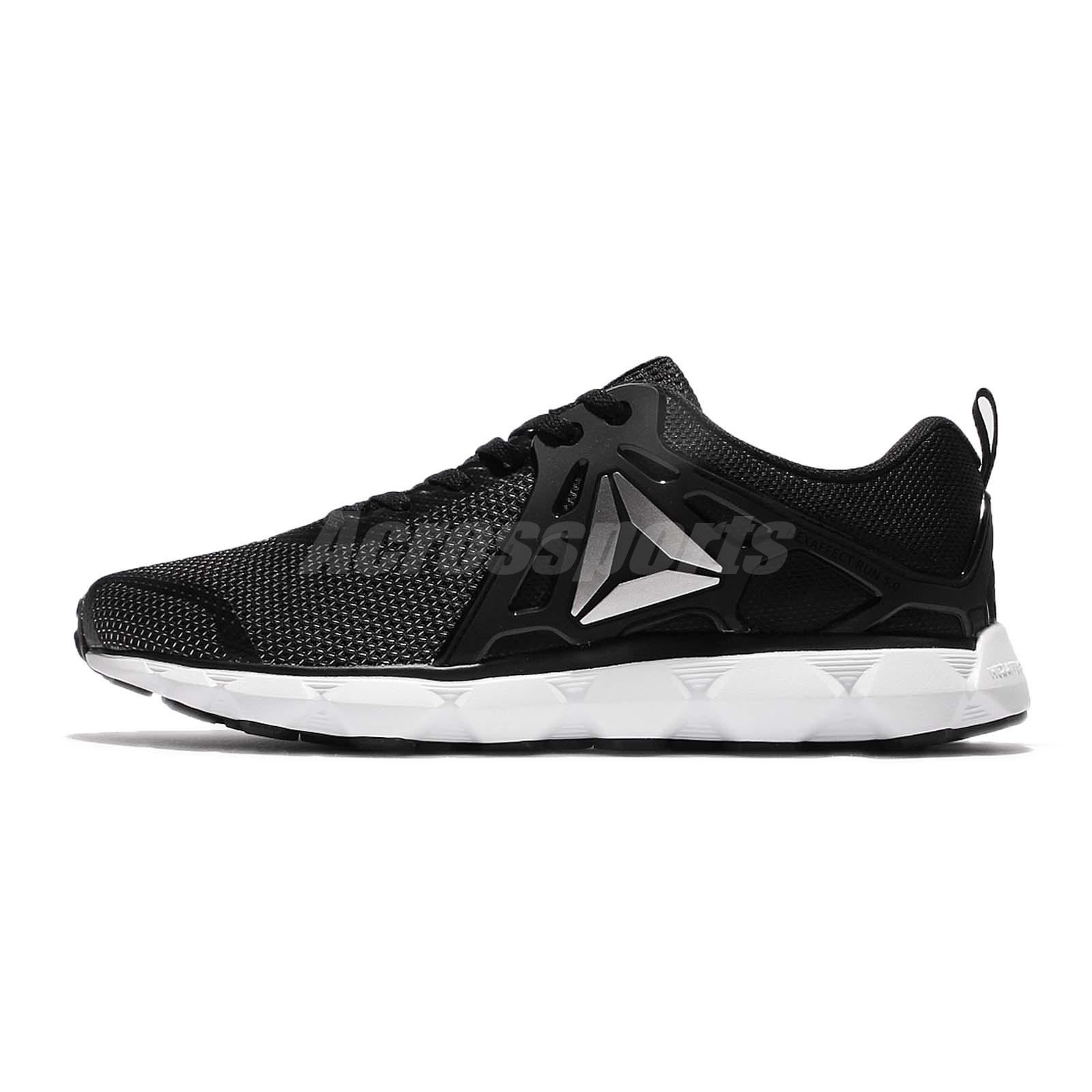 Reebok Hexafect Run 5.0 MTM Black Silver Men Running Shoes Sneakers BD4700 R1kssB2
