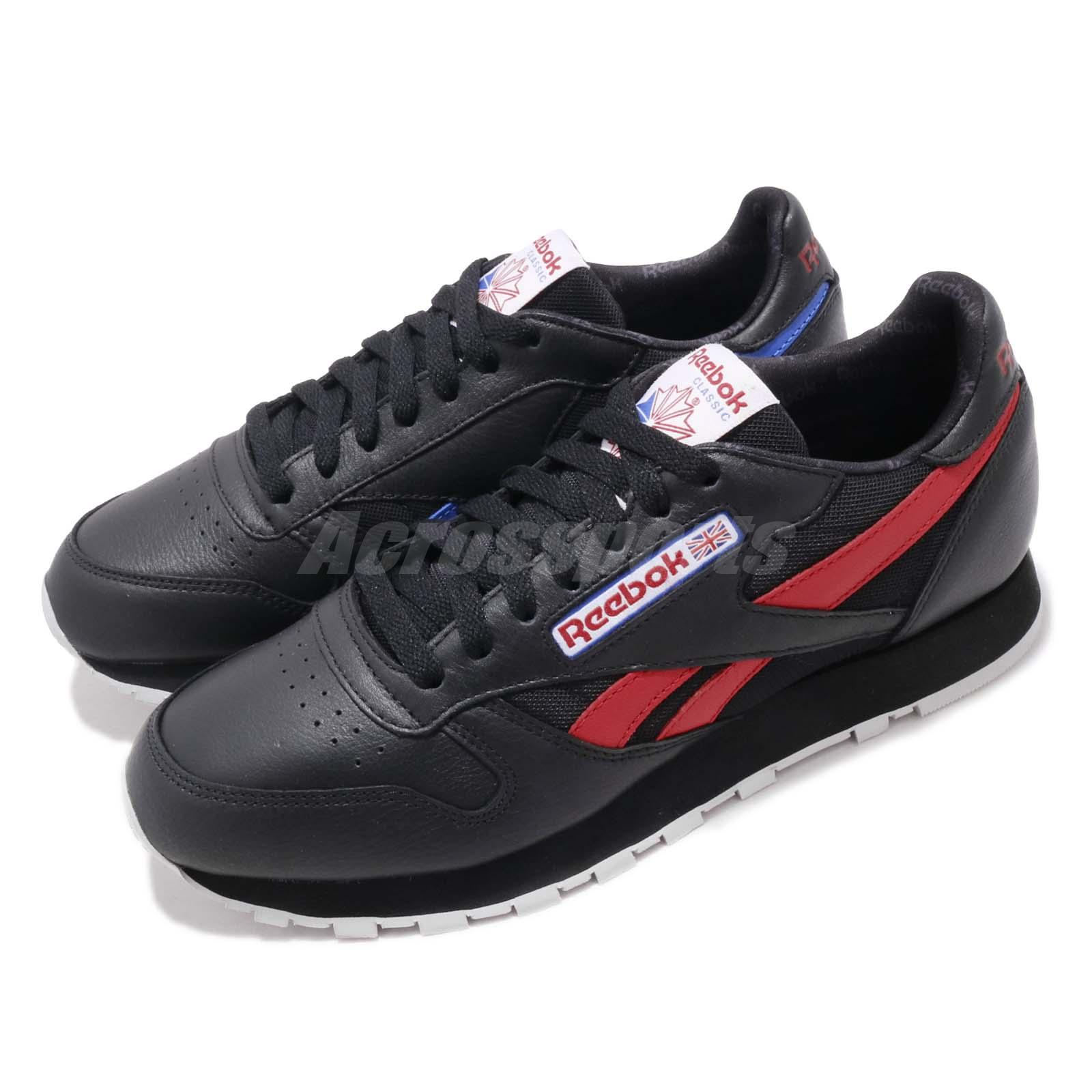 Reebok Classic Leather Men Shoes Red and Black,reebok i run