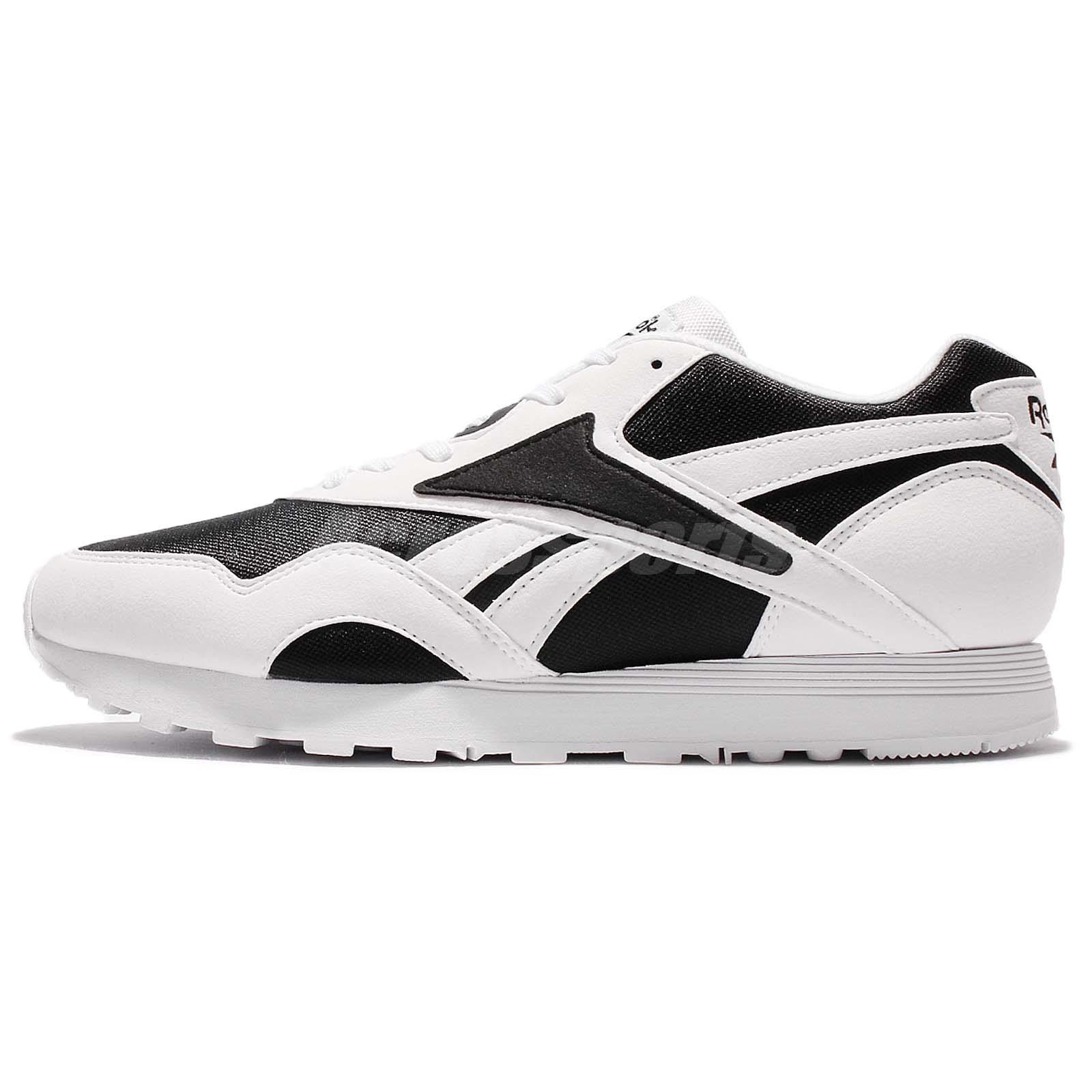fc0b51decb52f9 Reebok Rapide WL Old School Vibe White Black Men Running Shoes Sneakers  BS5801