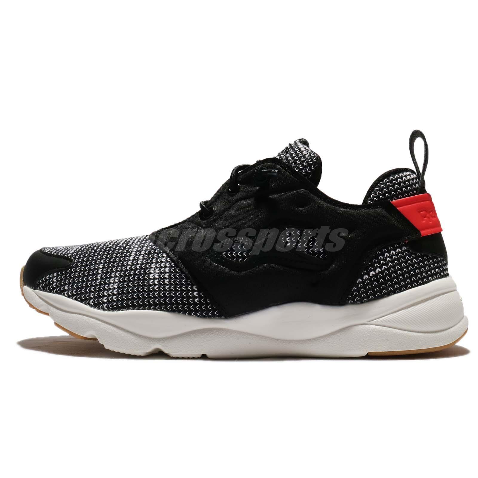 Reebok Furylite FBT Black Glow Red Chalk Women Running Shoes Sneakers BS6184 c7a0f9cd7