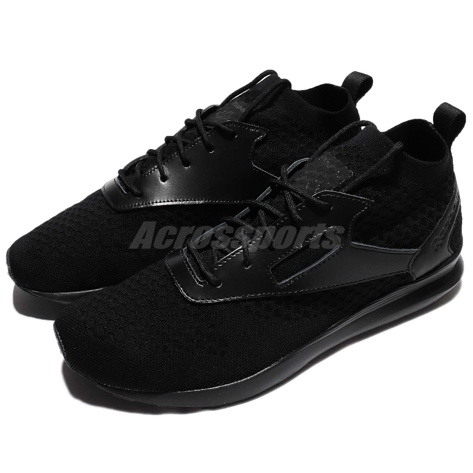 79a48e637dc Details about Reebok Zoku Runner ULTK Lux UltraKnit Triple Black Men Running  Shoes BS6307