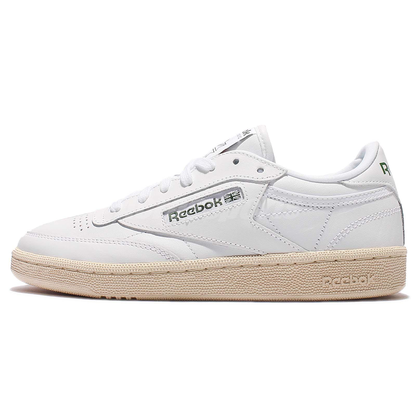 reebok classic high top shoes. reebok club c 85 su white green leather vintage classic women shoes bs7491 high top