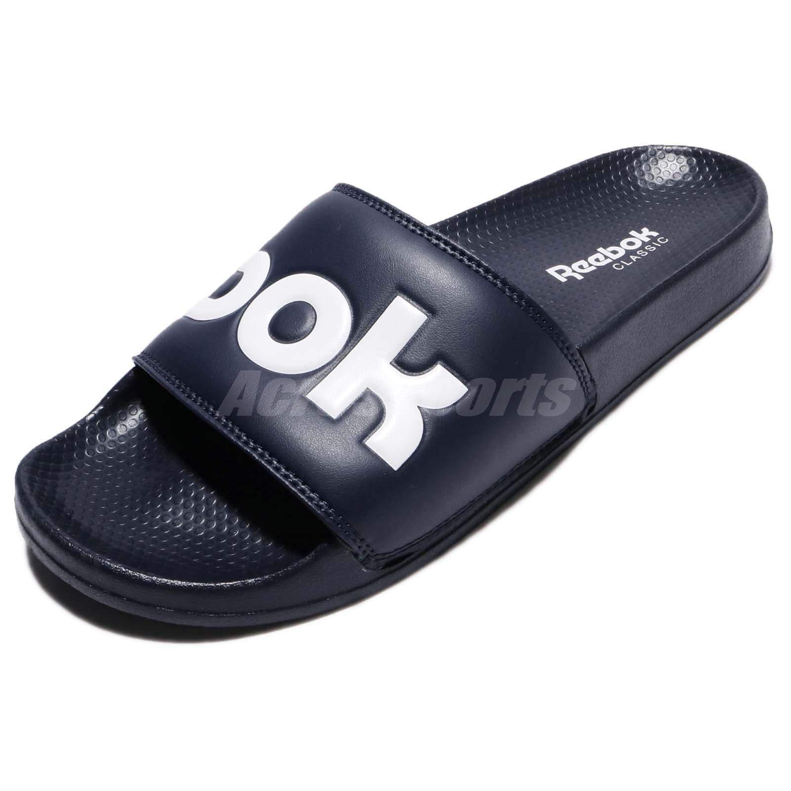 f6943635df0d Details about Reebok Classic Slide Collegiate Navy Rubber Men Sports Sandal  Slippers BS8186