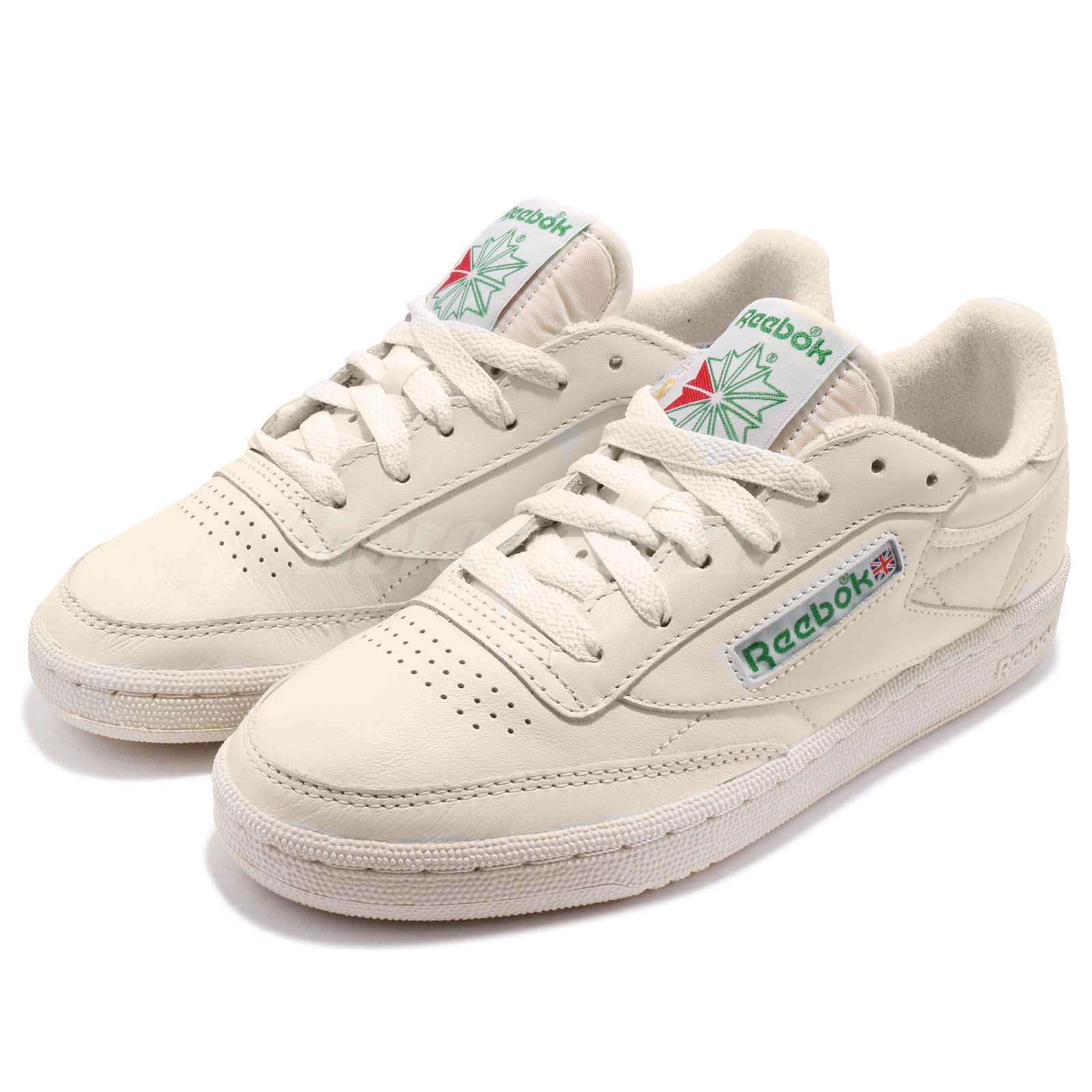 reebok club c 85 vintage leather chalk green women shoes. Black Bedroom Furniture Sets. Home Design Ideas