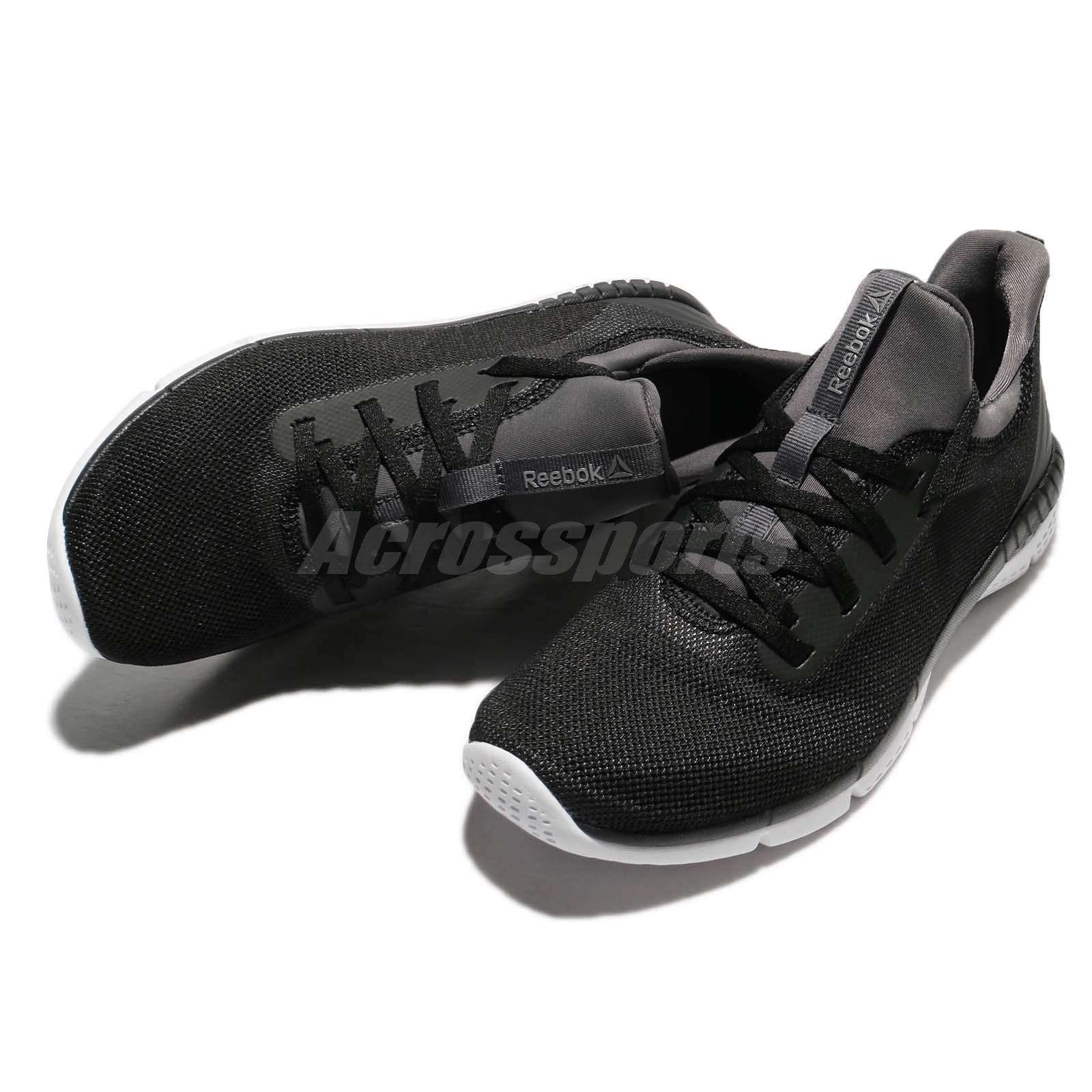f357def4ab623a Reebok Print Her 2.0 Black Grey White Women Running Shoes Sneakers ...
